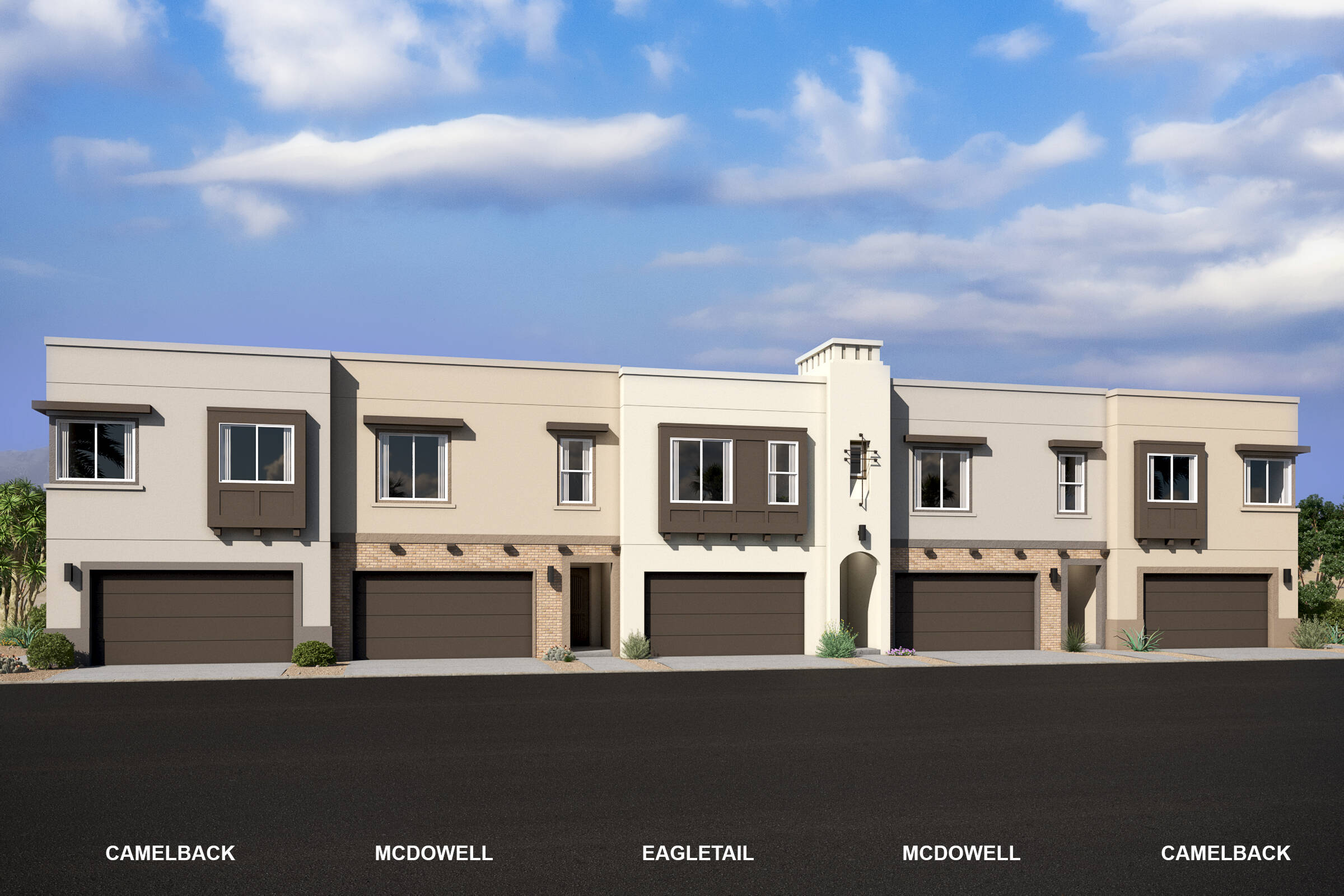 pinnacle at silverstone new scottsdale townhomes 5 plex a
