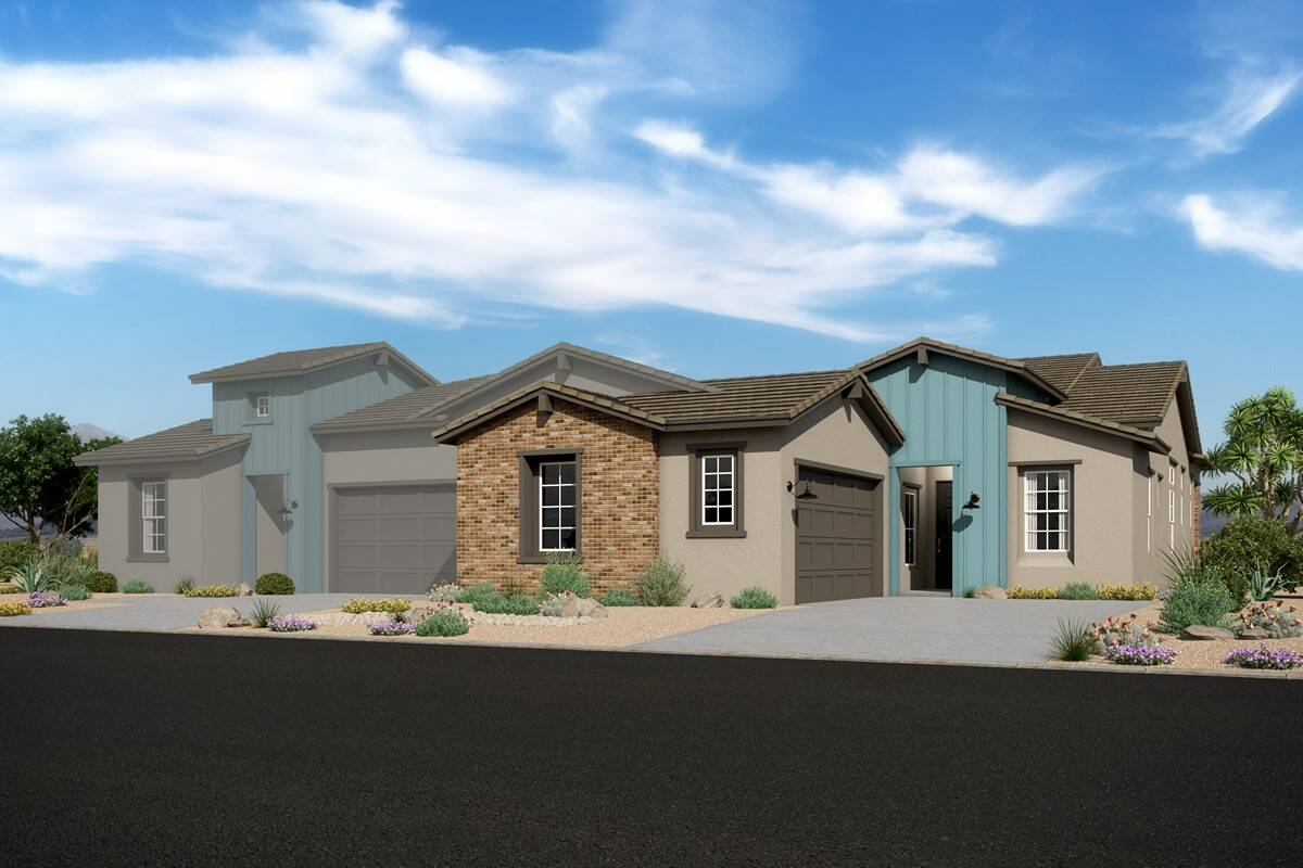 Ascent 3801 w Capstone 3802 – Elevation F – Desert Modern Ranch