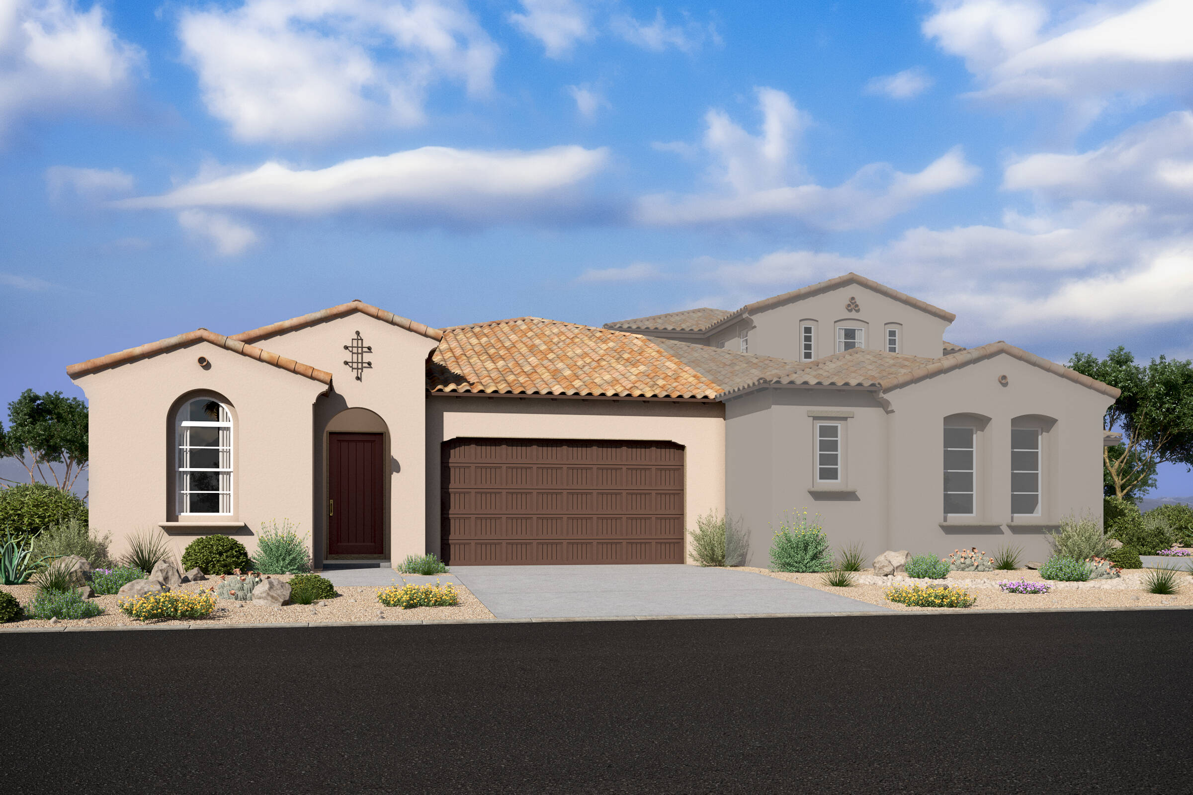 capstone spanish colonial d new homes silverstone with crest