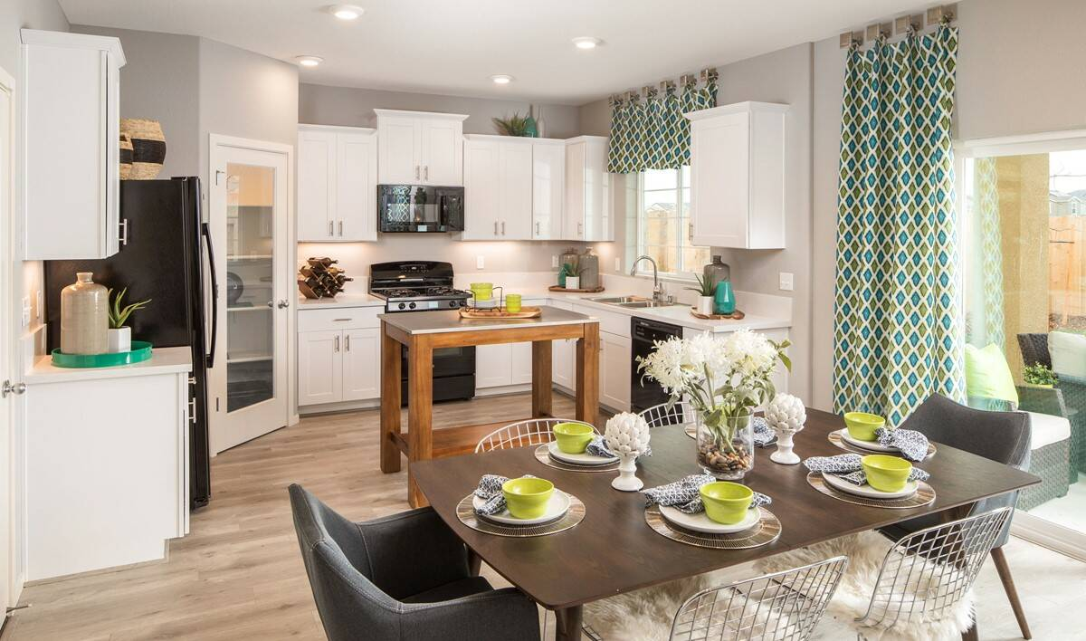 gardenia dining kitchen new homes aspire at village center aspot