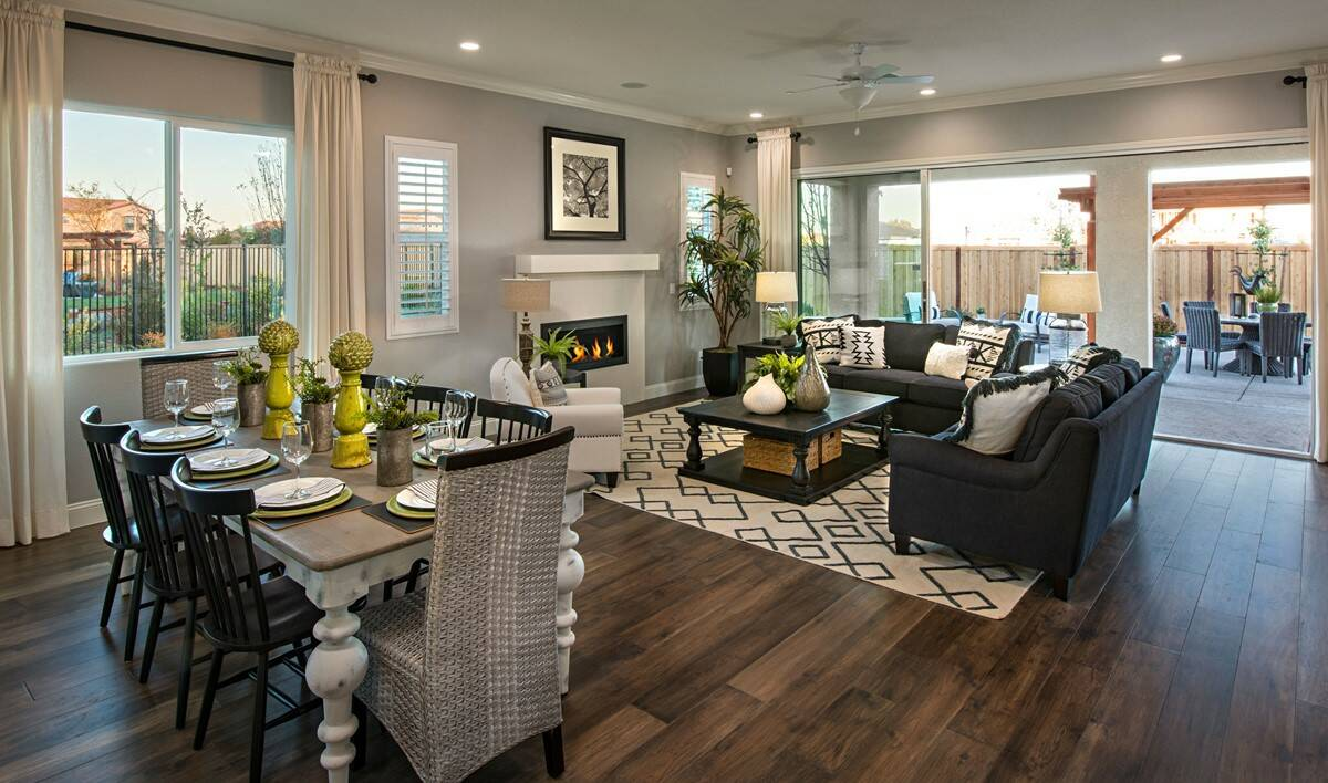 canopy dining great room new homes parkside at westshore