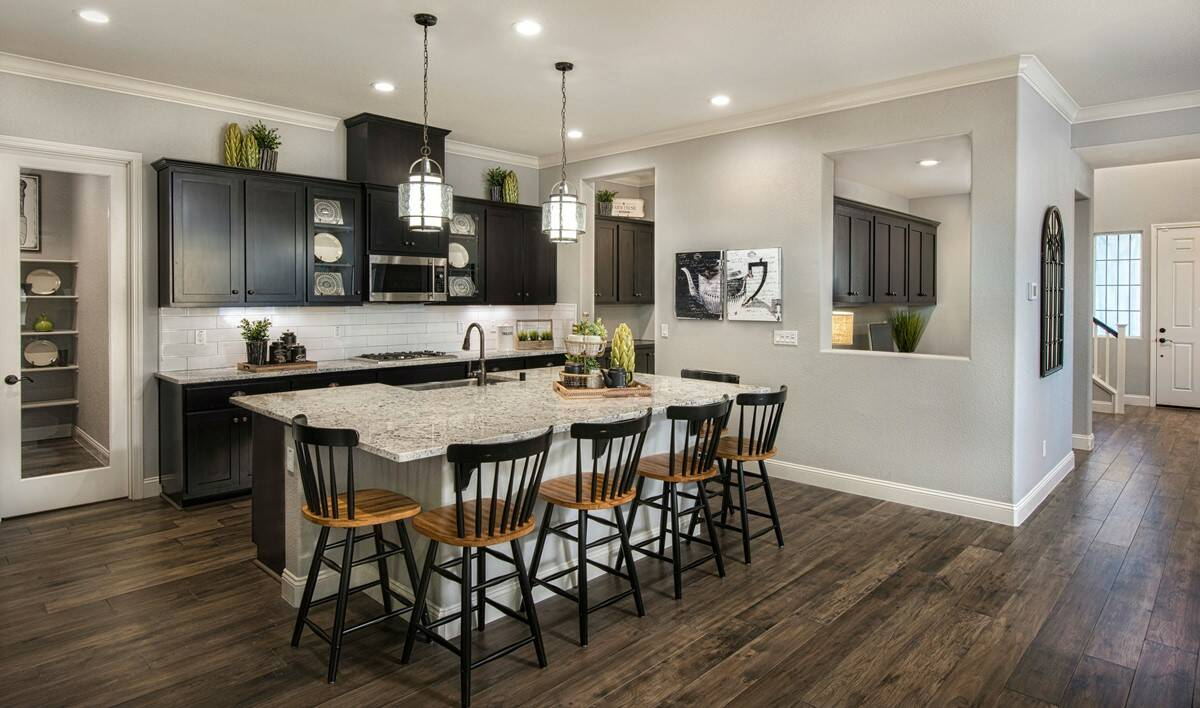 canopy kitchen new homes parkside at westshore