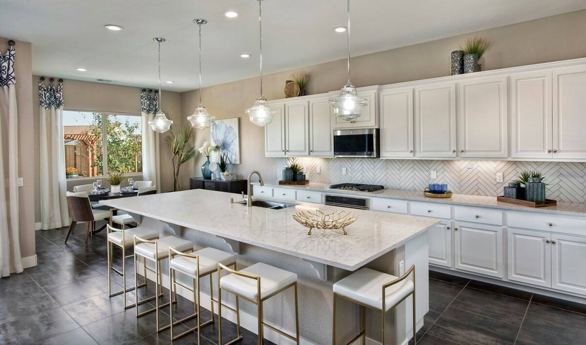 evergreen kitchen new homes parkside at westshore