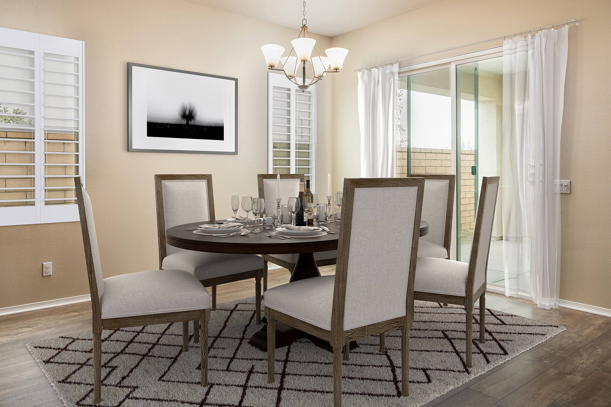 Dining-virtually-staged