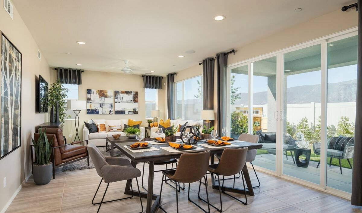 holiday dining great room new homes lakes elsinore