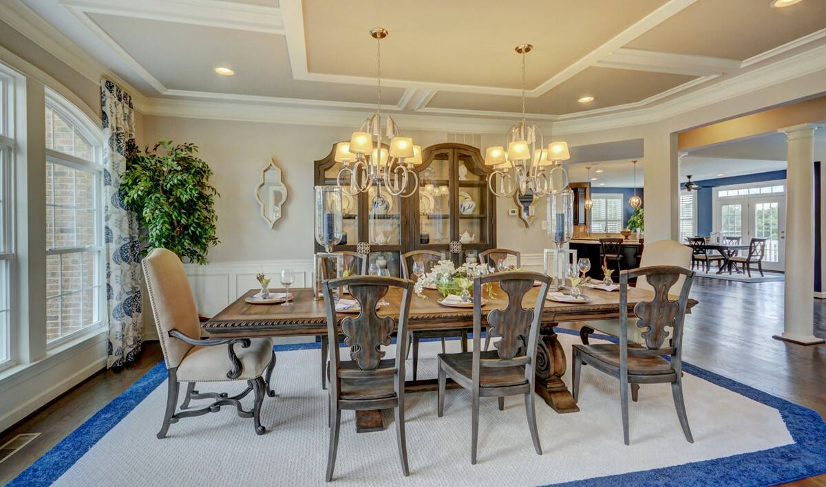 dining room in rhode island new homes at cedar lane