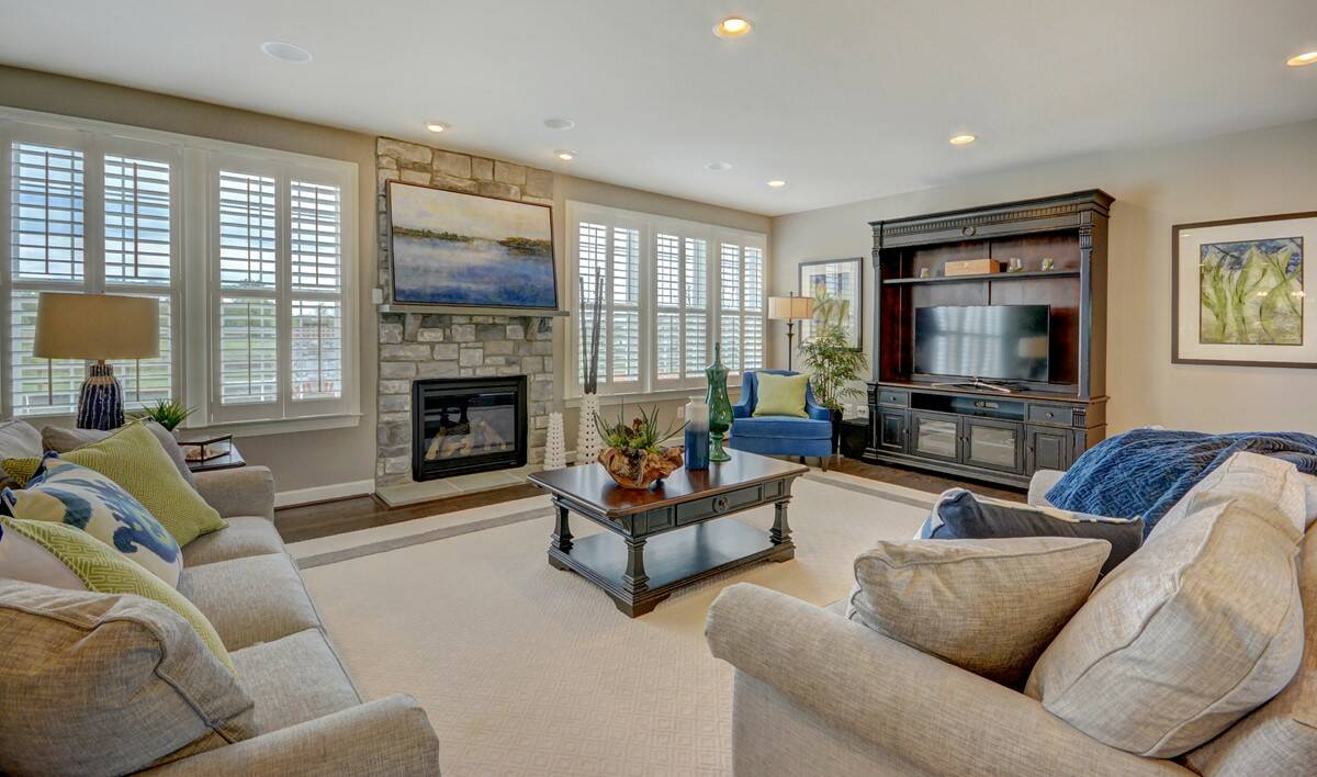 family room in rhode island new homes at cedar lane