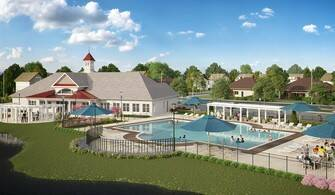 K. Hovnanian_s Four Seasons at Belle Terre_Clubhouse_Pool and Clubhouse (1)