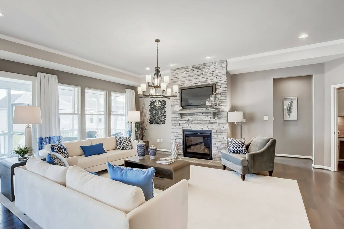 rockford great room new homes at red mill pond