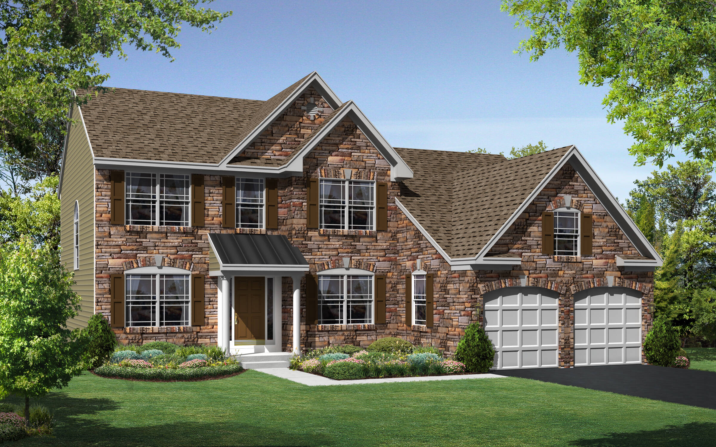 Maine II Colonial Stone elevation in lewes delaware