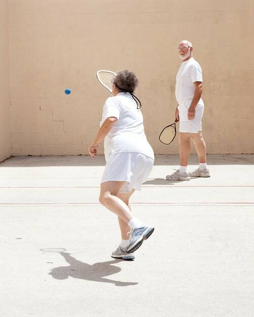 18 501 x 624 58593_Older Couple playing Racquetball Outdoors GettyImages-153493680