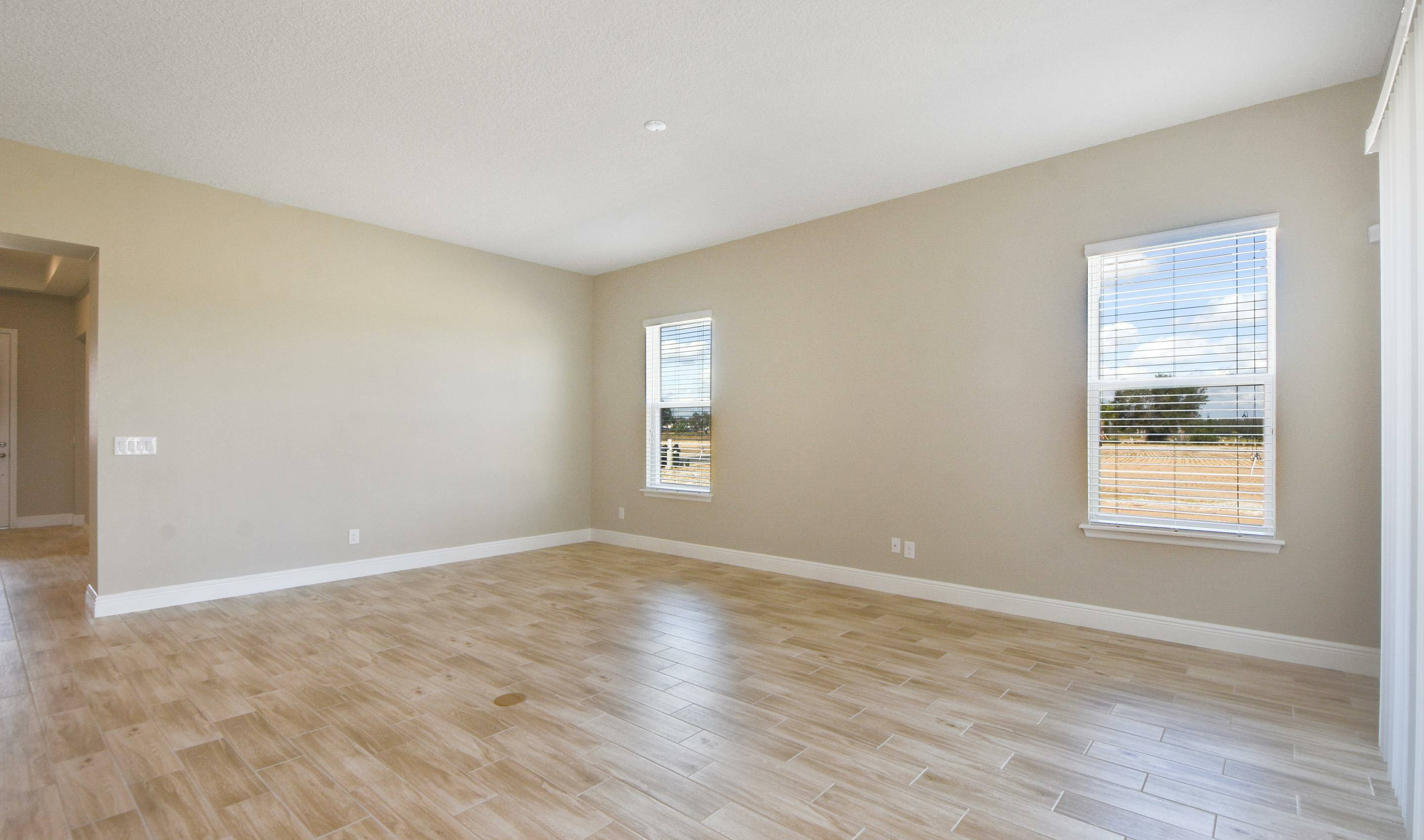 great room in the Barbados in Four Seasons at Orlando new homes in Orlando Florida
