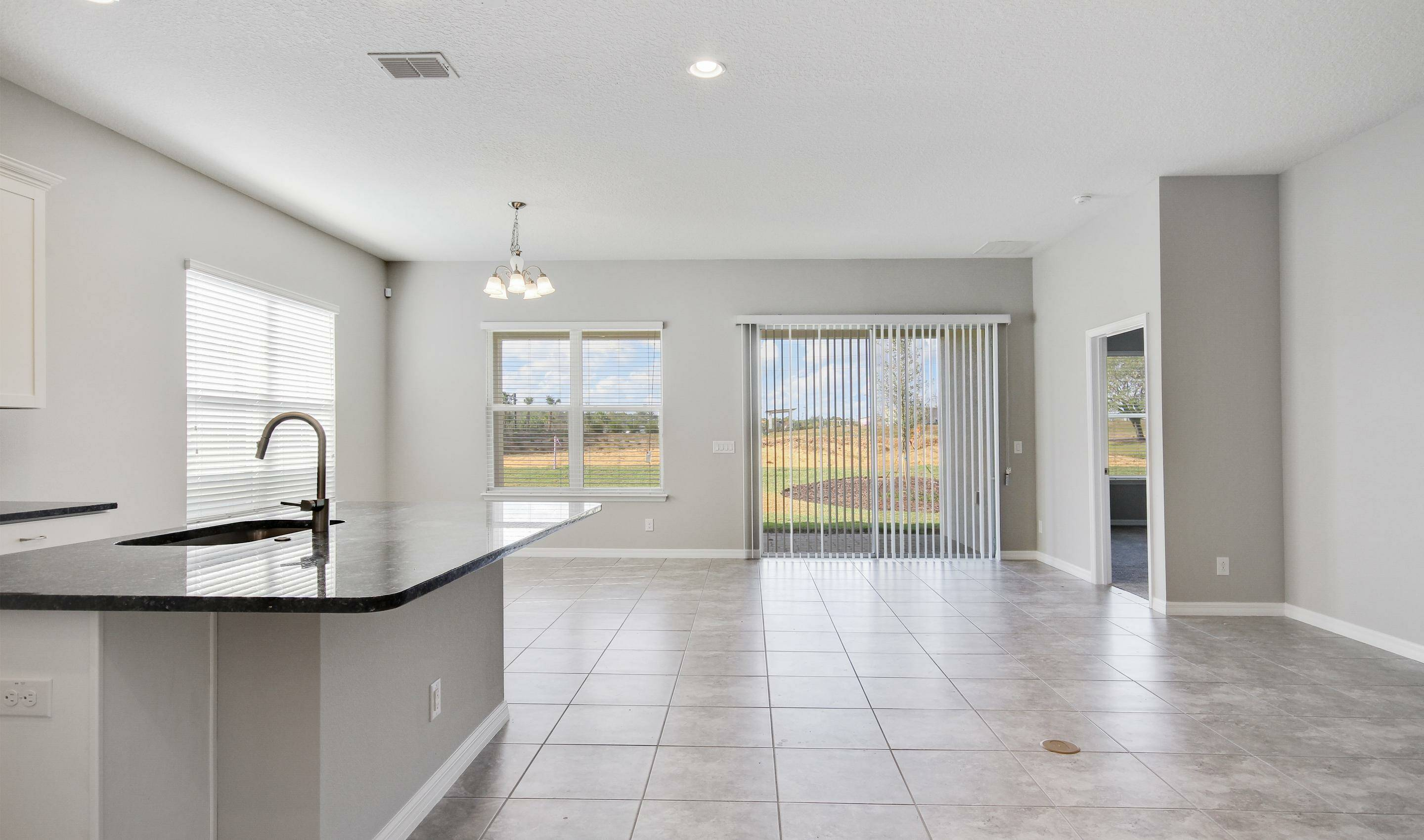 open great room in the Bermuda in Four Seasons at Orlando new homes in Orlando Florida