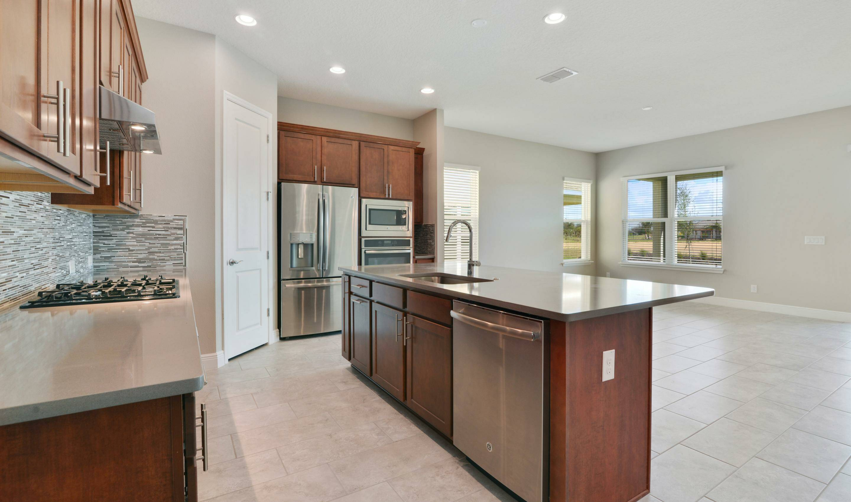 kitchen 2 in stella new homes four seasons at orlando in orlando florida