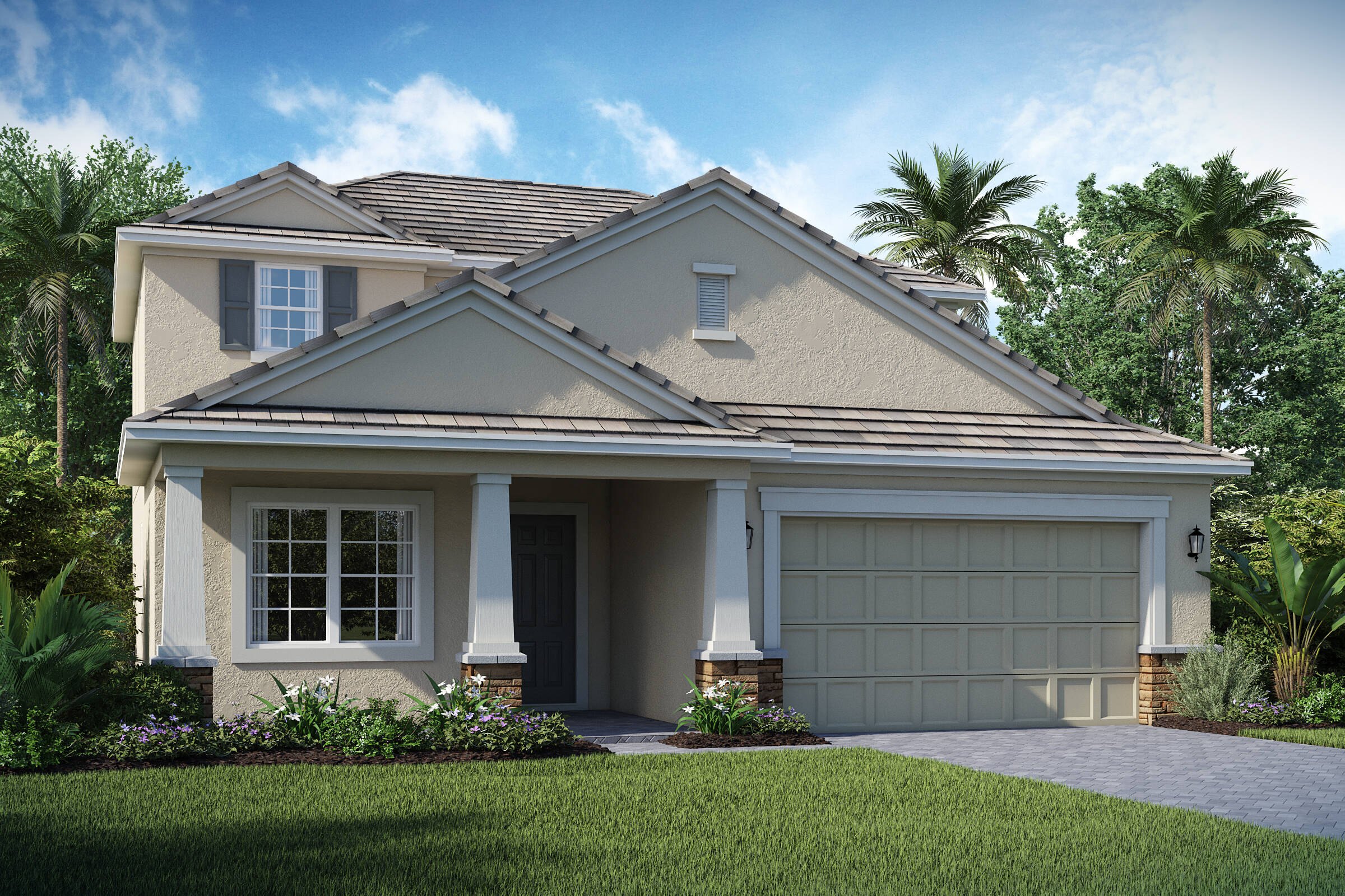 Bessemer C exterior lake florence preserve new homes in orlando florida