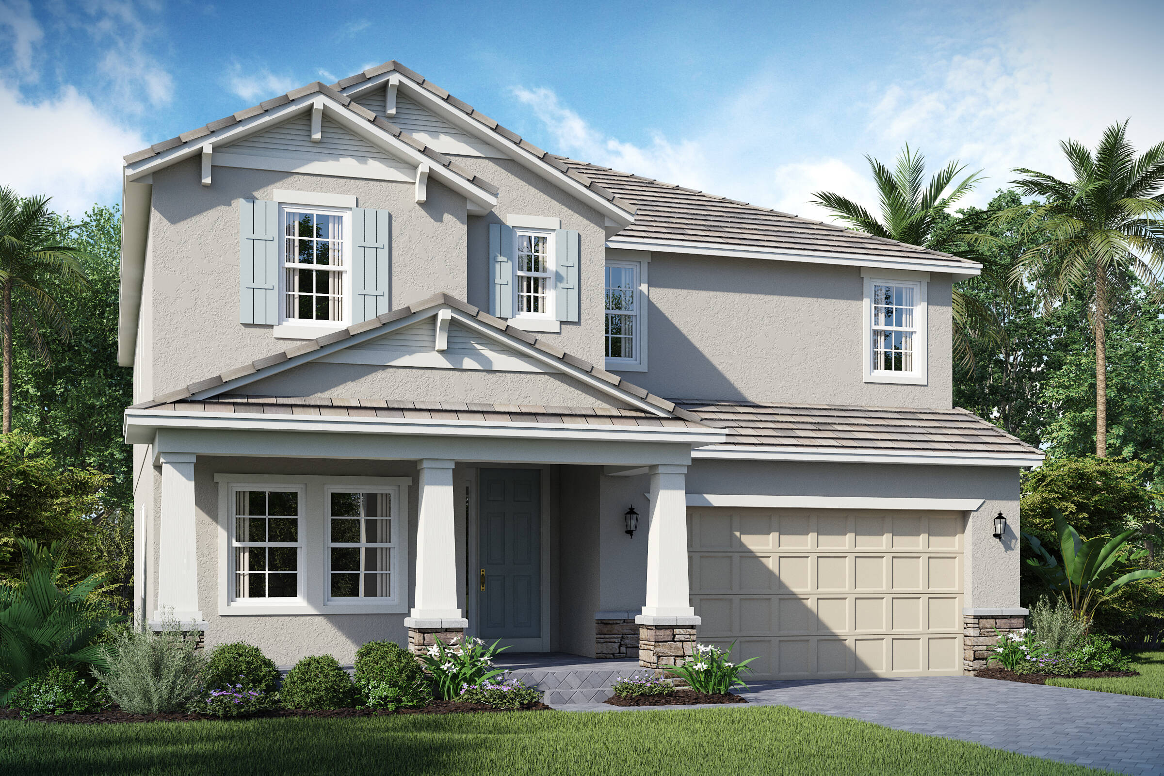 Michelson C Exterior Lake Florence Preserve New Homes In Orlando Florida ...