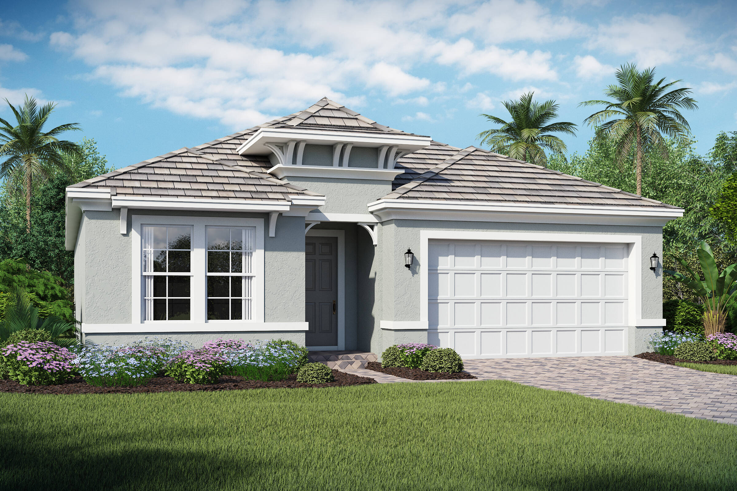 Saint Lucia B exterior lake florence preserve new homes in orlando florida