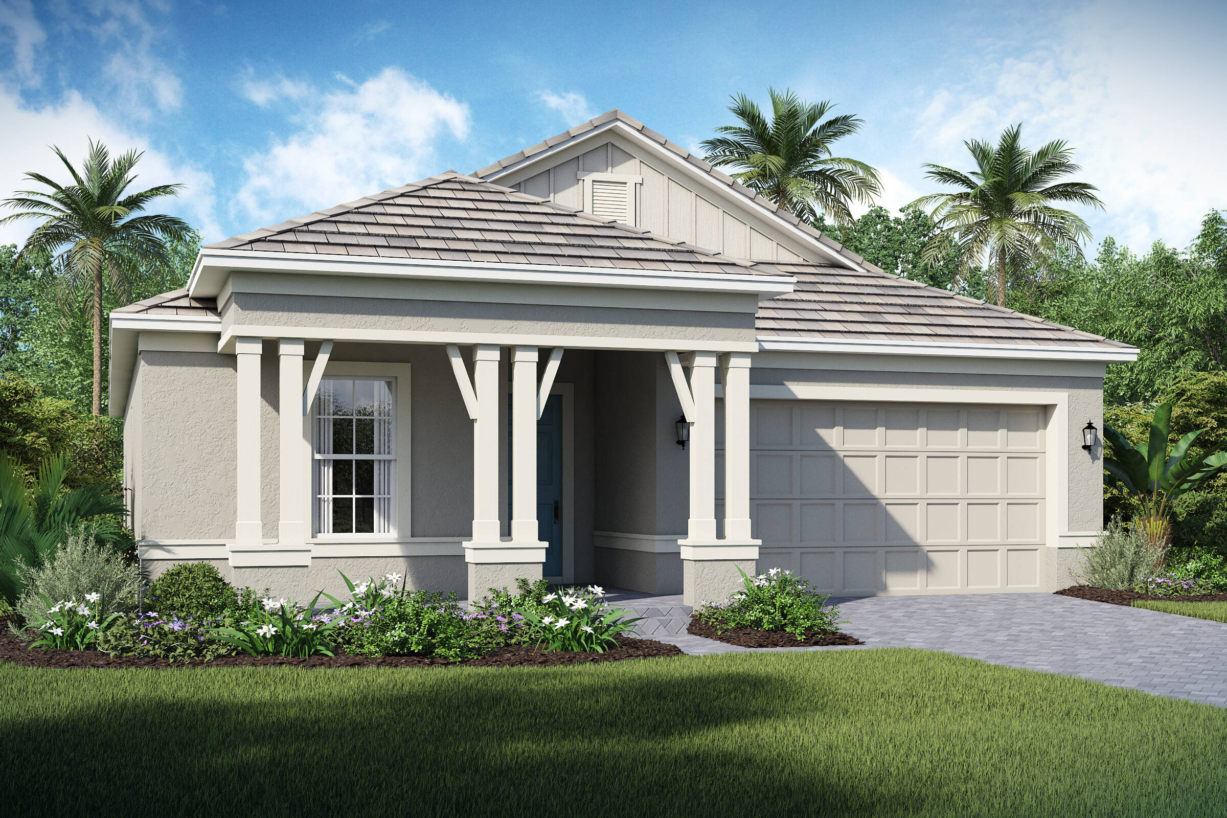 Saint Lucia C exterior lake florence preserve new homes in orlando florida