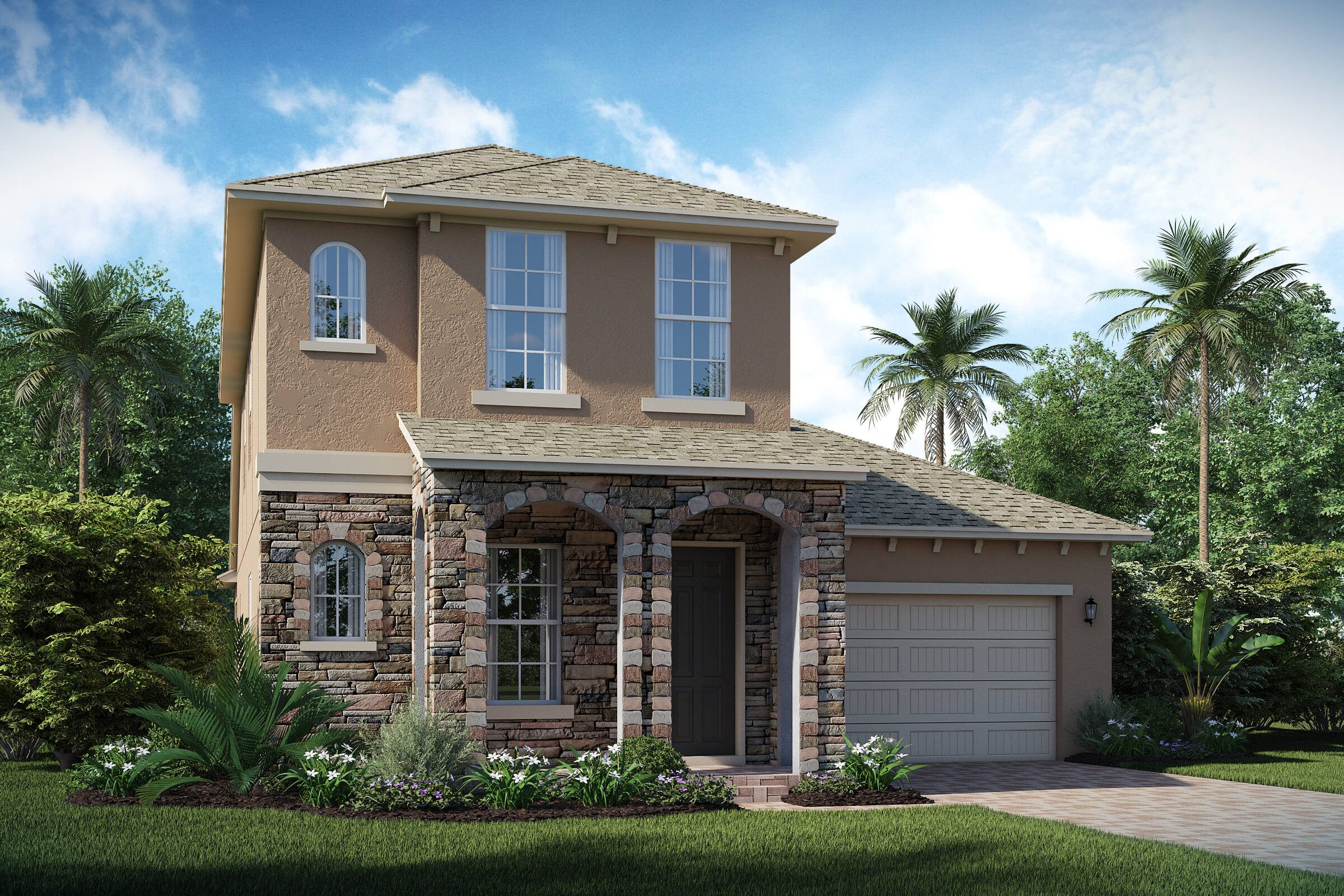 Harper C elev new homes in orlando florida