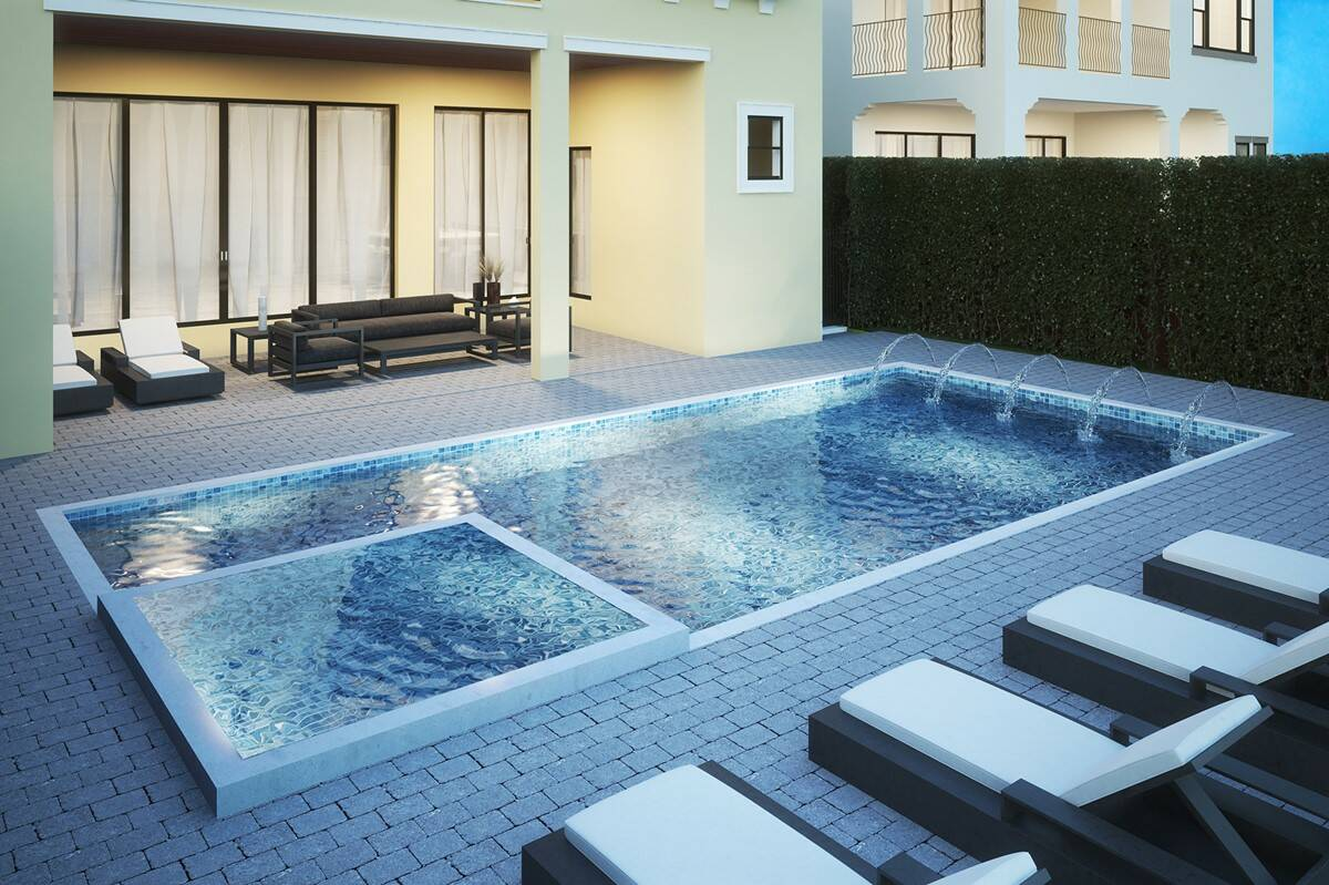 inviting pool in boynton beach florida at casa del mar