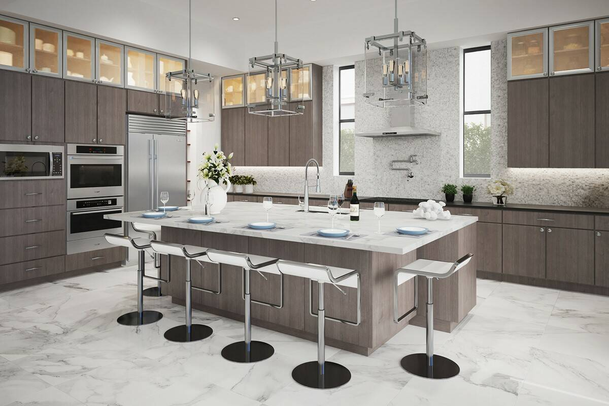 striking kitchen in boynton beach florida at casa del mar