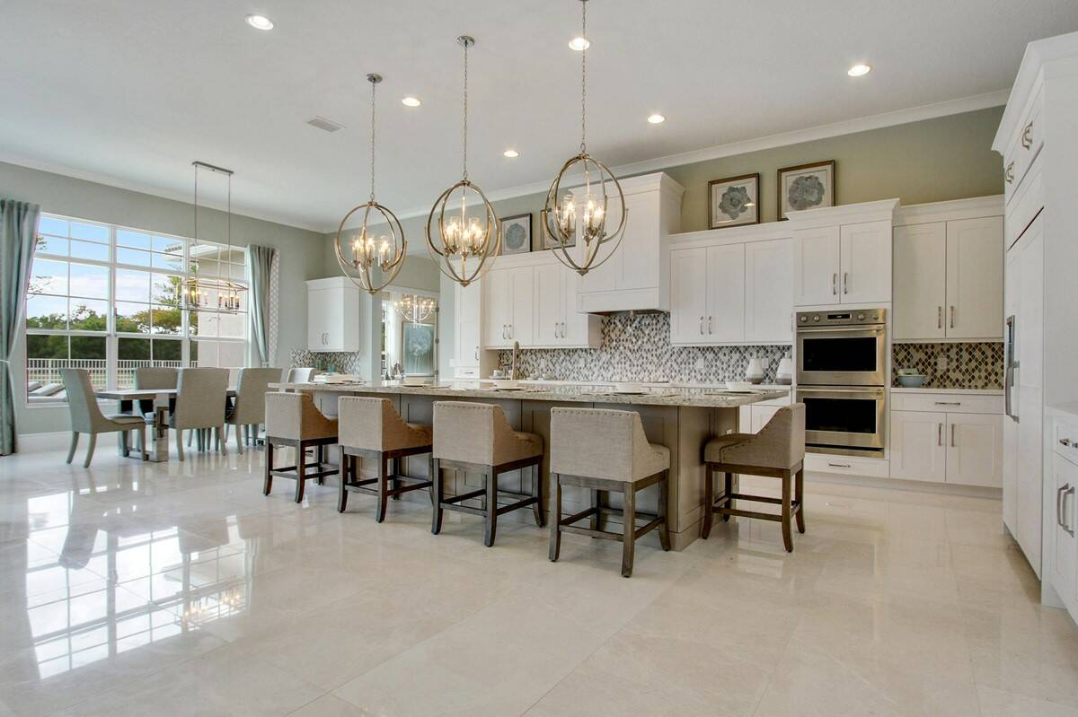 hawthorne kitchen dining area new homes in jupiter florida