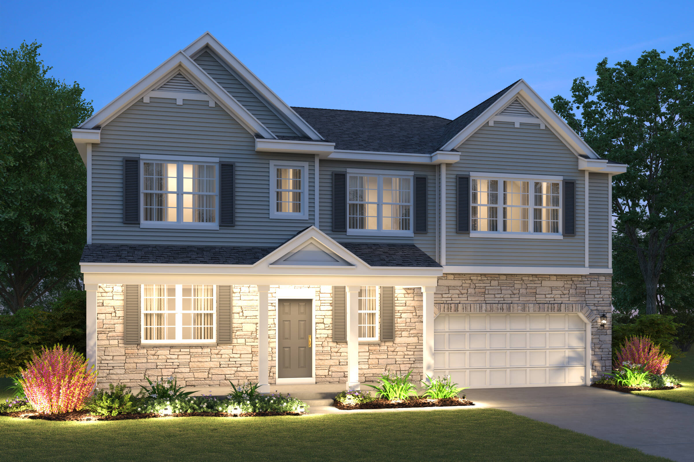 new-homes-sycamore-north-grove-crossing-6005-Jewel Cortland-D-Stone-elev