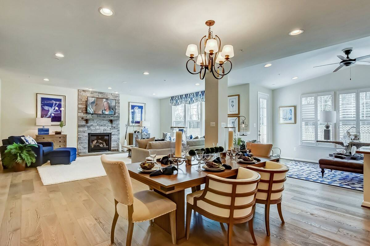 lexington dining area new homes at stone mill in maryland