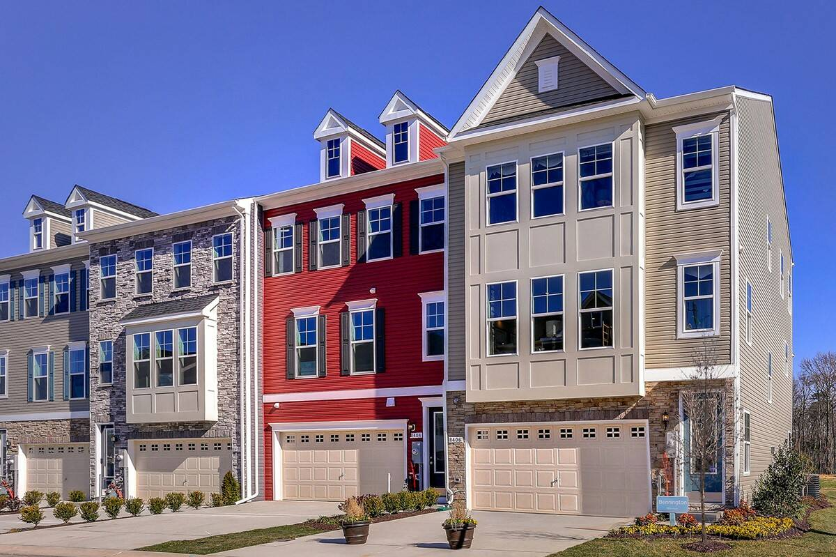 Exterior Bennington I Towns at Wades Grant New Townhomes Millersville Maryland 2048 x 1364