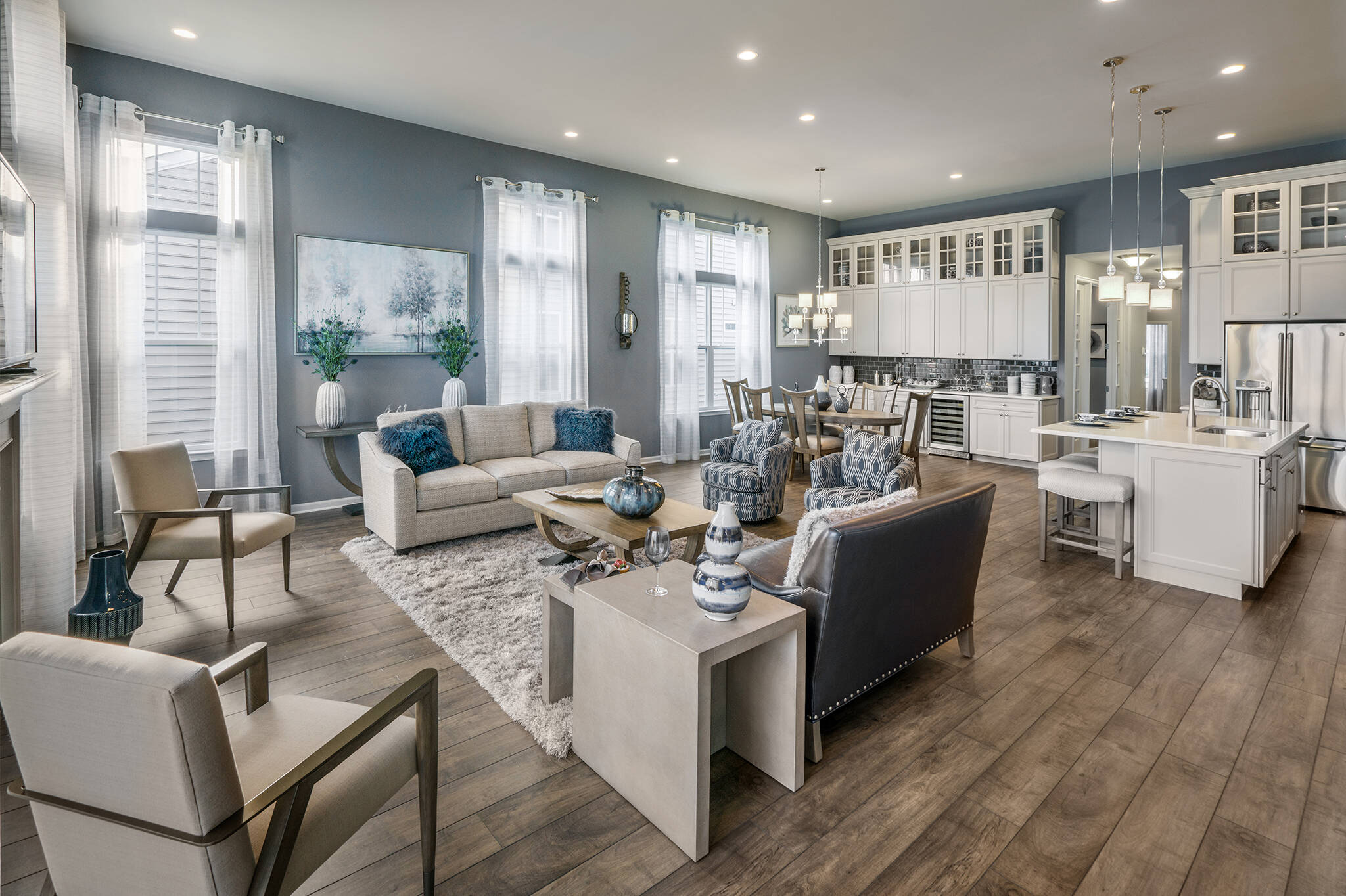 New Homes NJ Anegada II Great Room with Kitchen