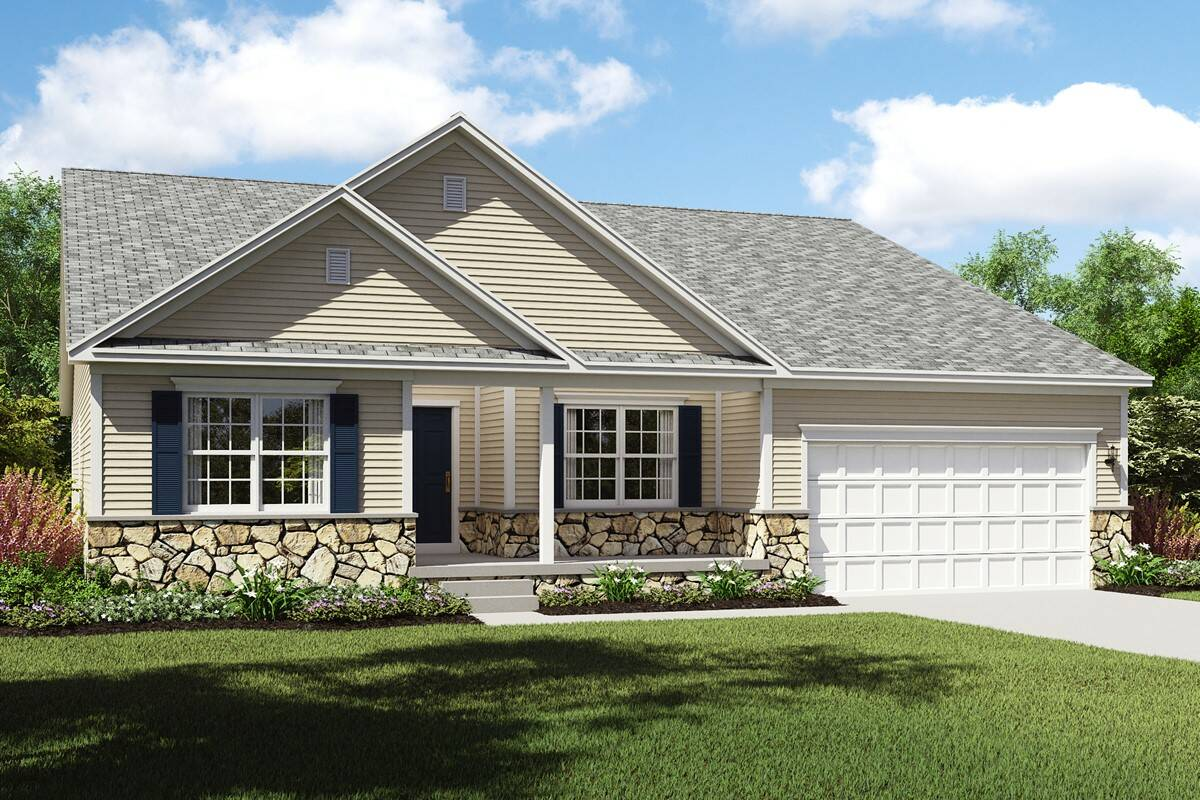 stone front rockford elevation c new home