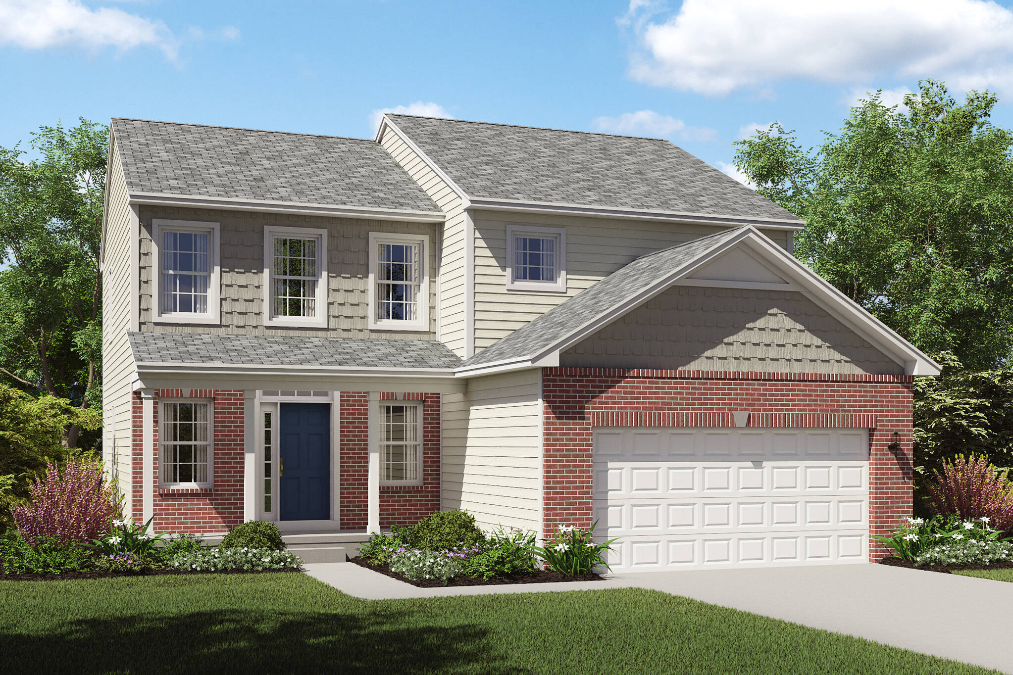 sophisticated brick exterior new homes appleton cleveland ohio