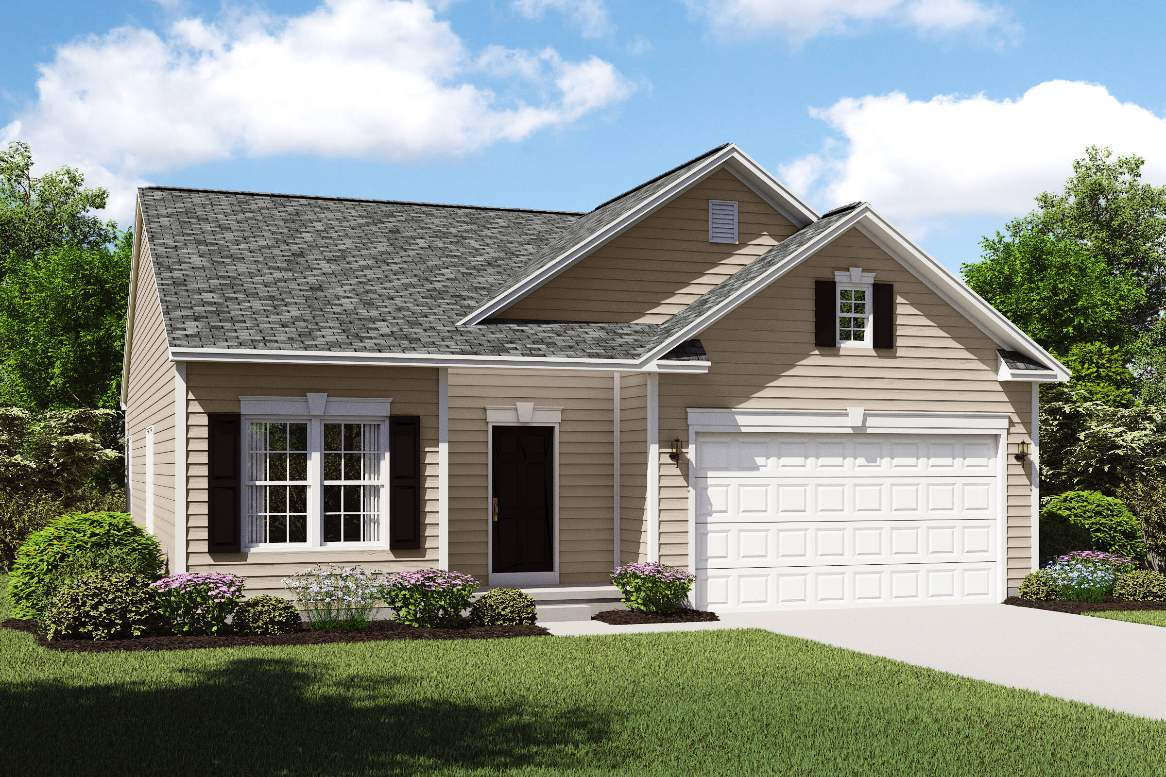 bedford cs new ranch home design cleveland