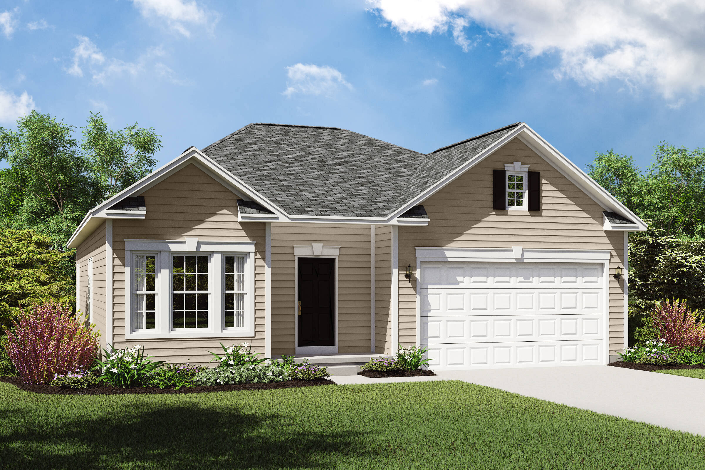 bedford gs single story new homes northeast ohio