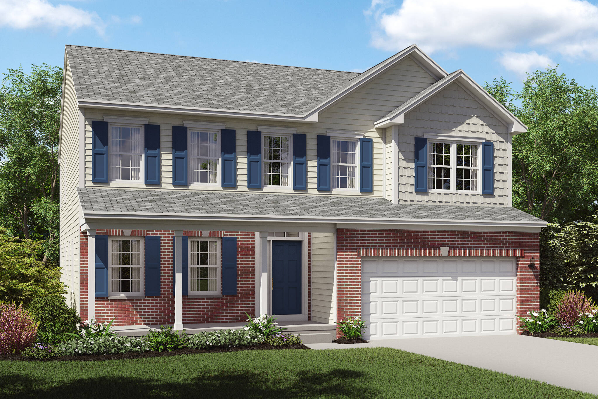 brantwood new home brick exterior cleveland ohio