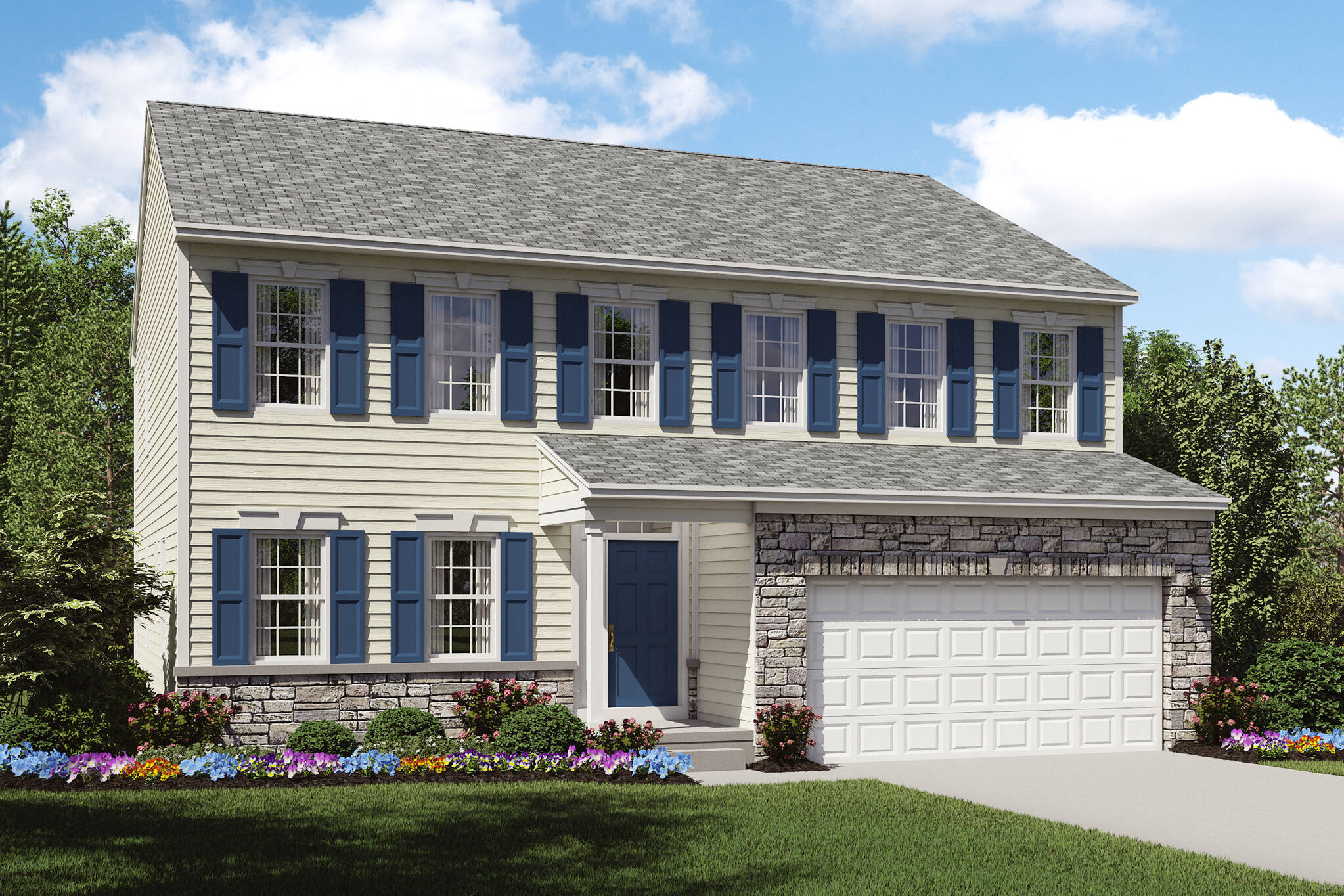 stone exterior new home brantwood cleveland ohio