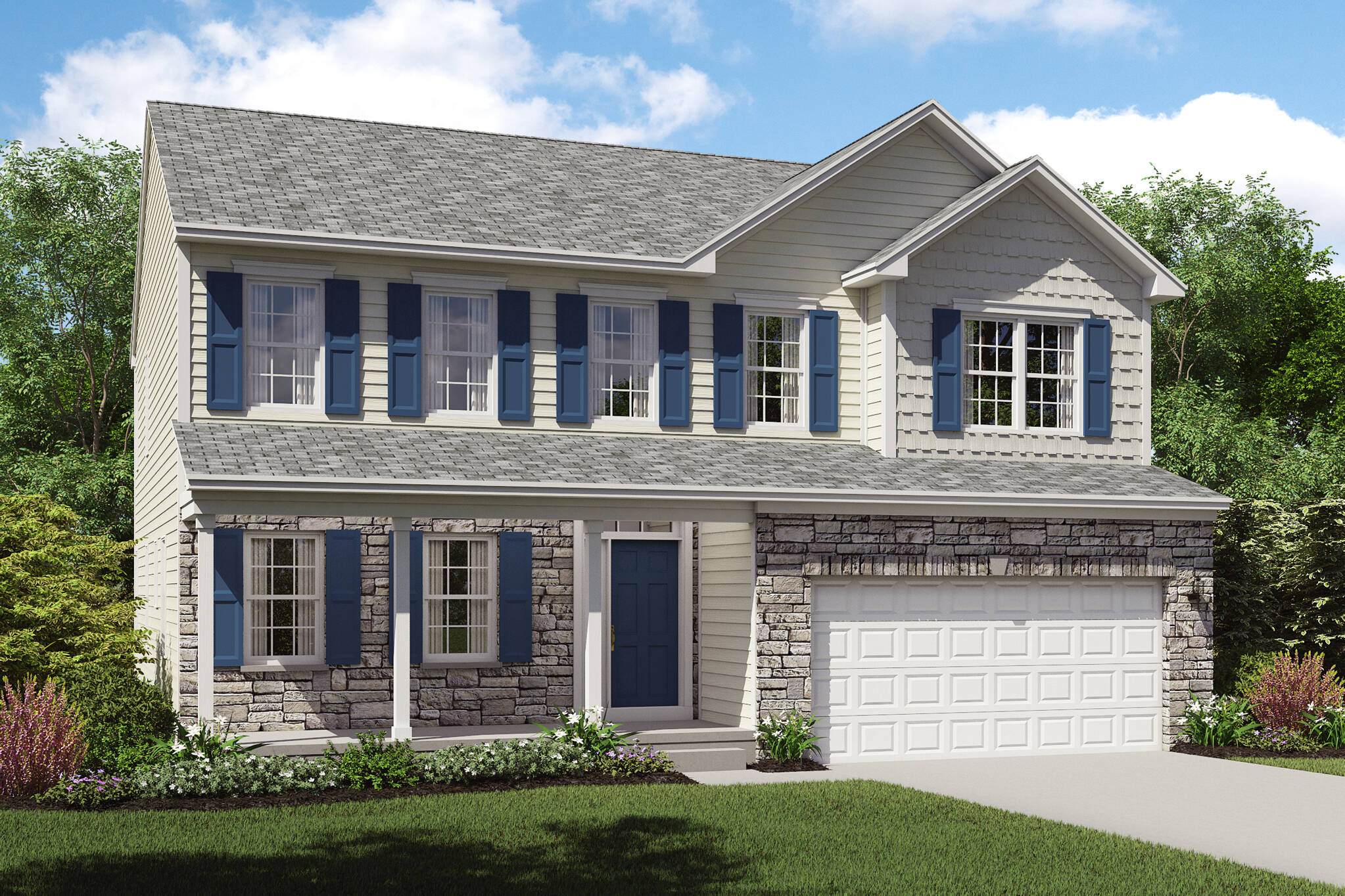 stone exterior upscale new home brantwood cleveland ohio