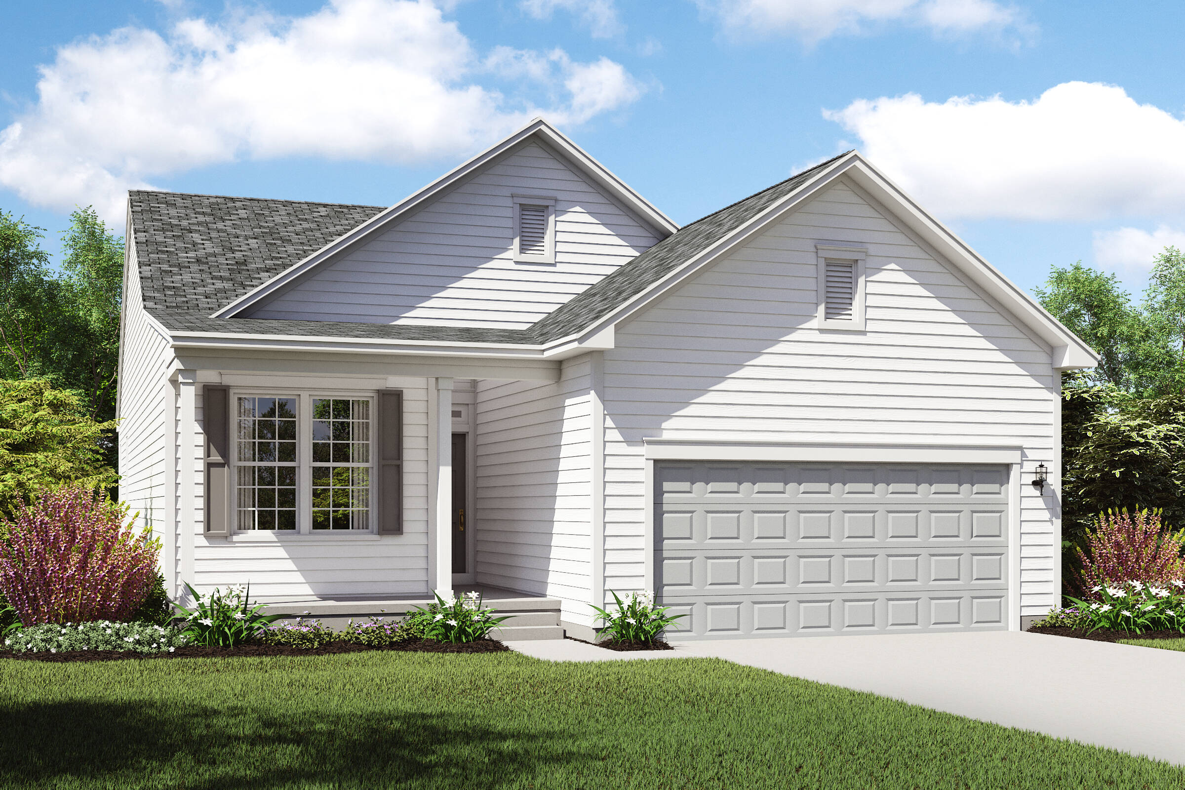 ranch home design new homes capri 2 c lorain ohio