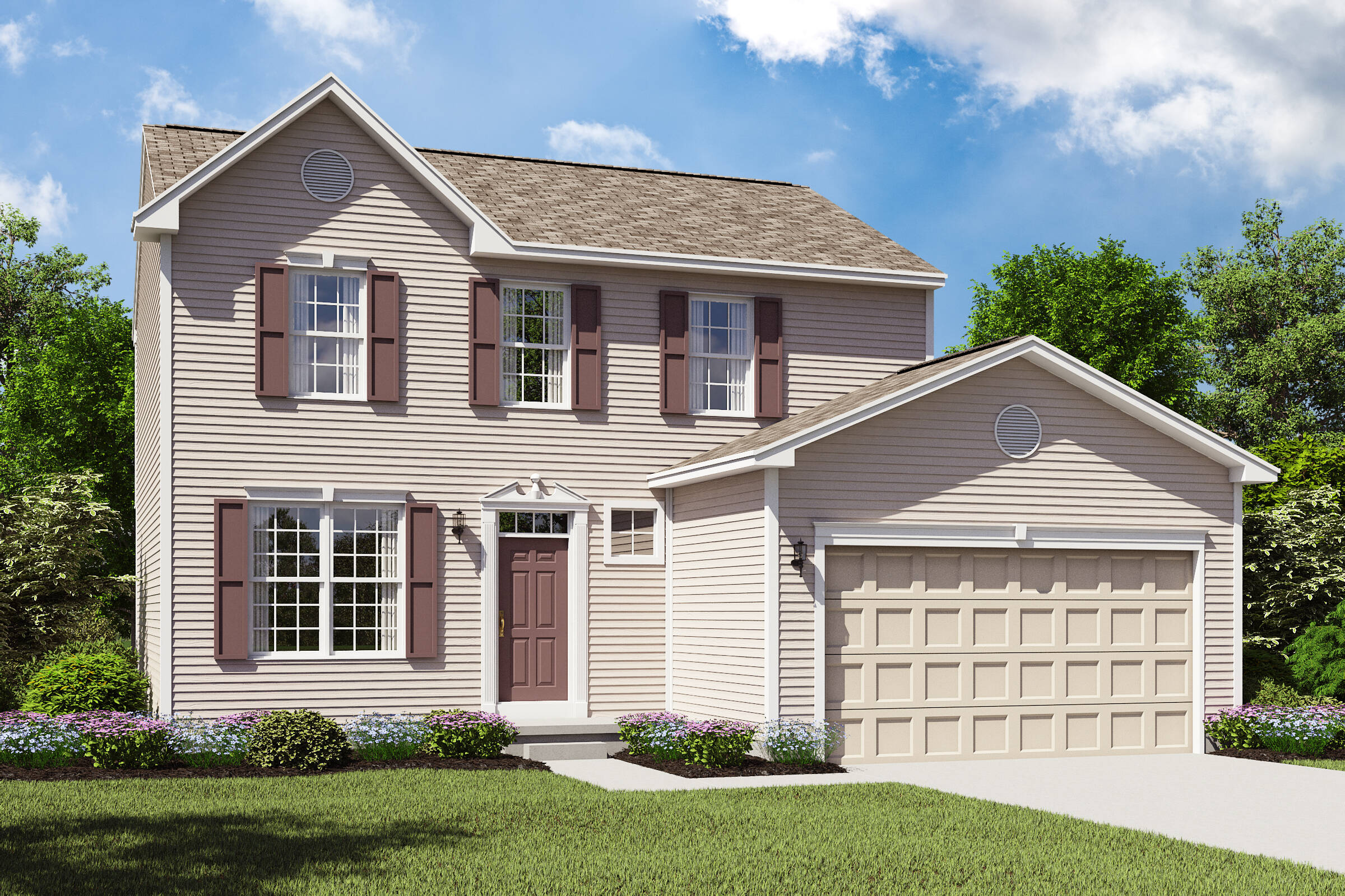 Concord II BS new homes colonial home design cleveland