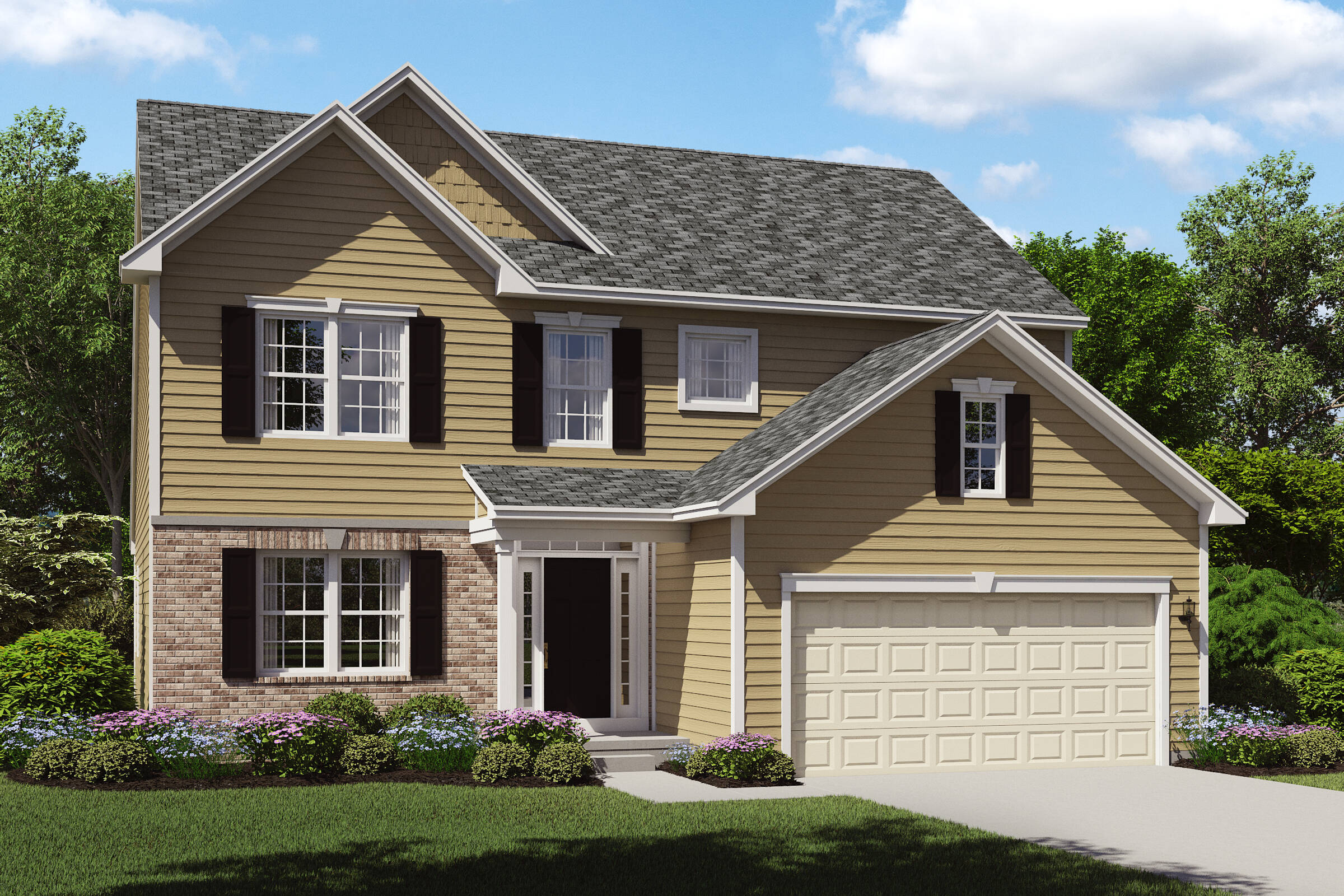 brick exterior new homes northeast ohio oakridge b