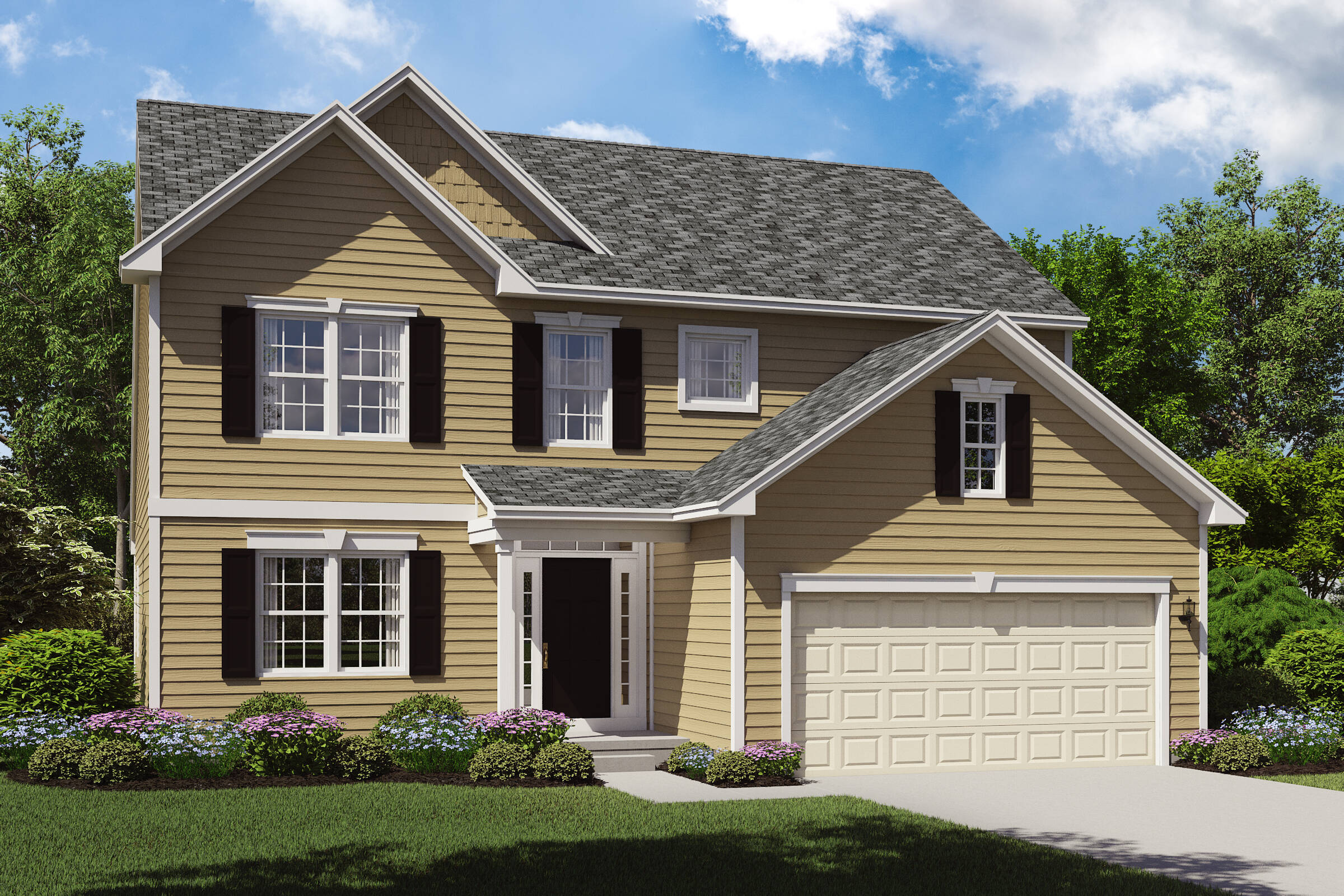 first floor owners suite home designs oakridge b northeast ohio