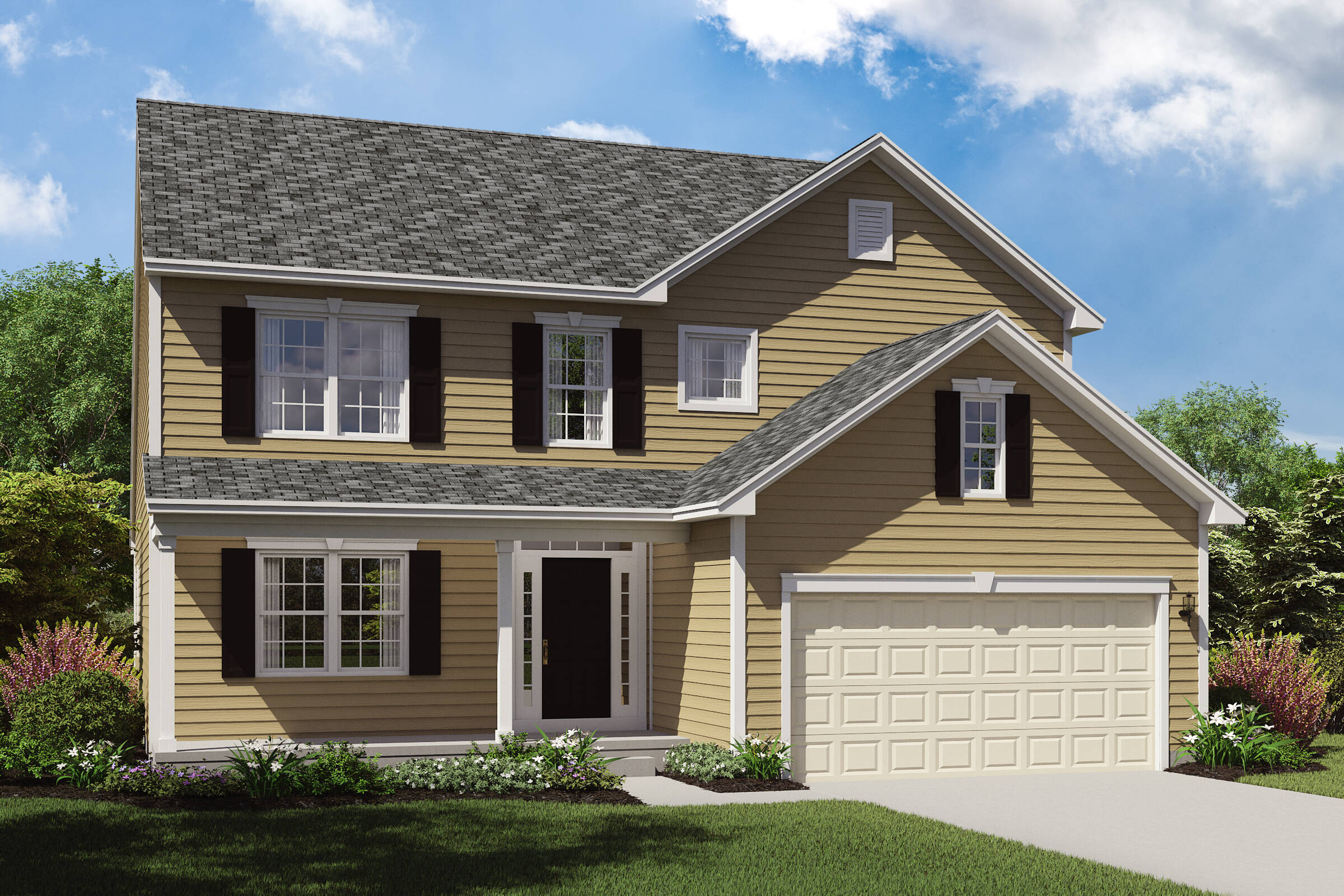 new home designs first floor owners suite oakridge c northeast ohio