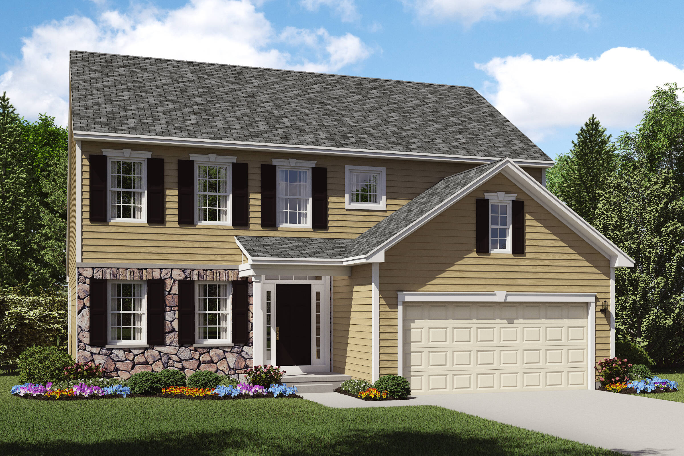 new home designs stone exterior oakridge a northeast ohio
