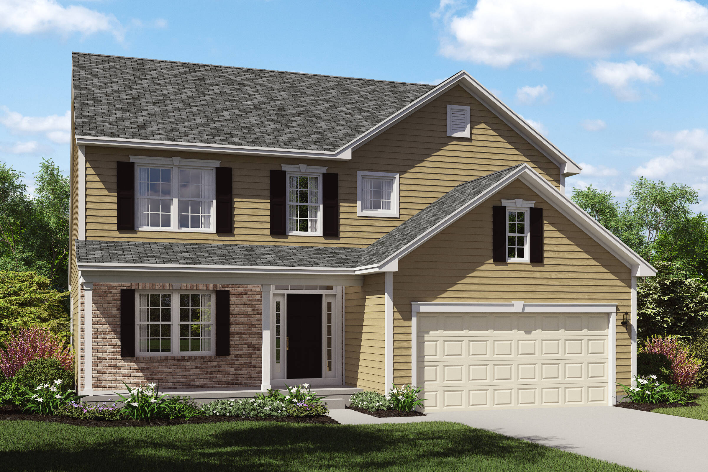 new homes with brick exterior oakridge C northeast ohio