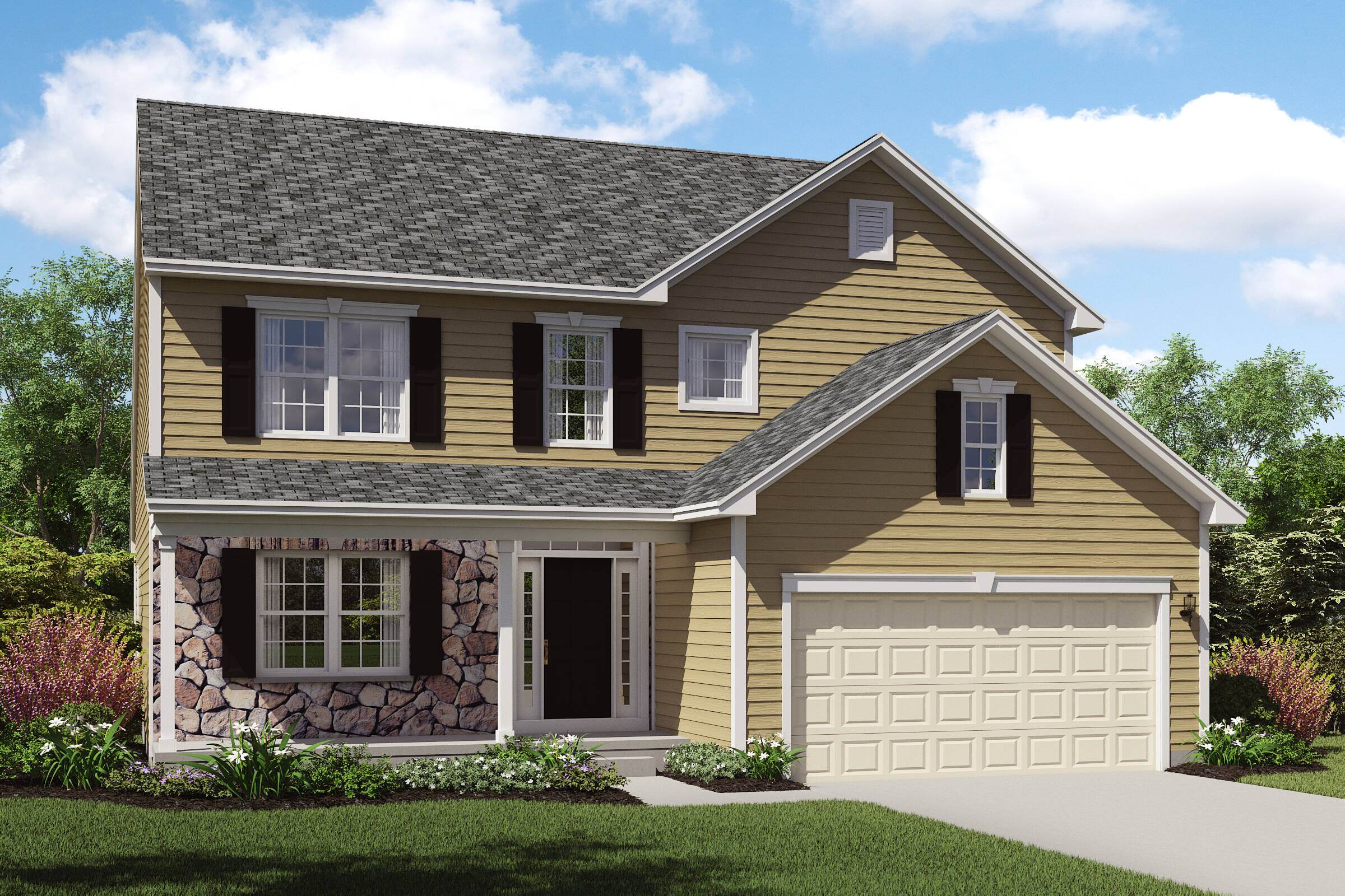 new homes with stone exteriors oakridge c northeast ohio