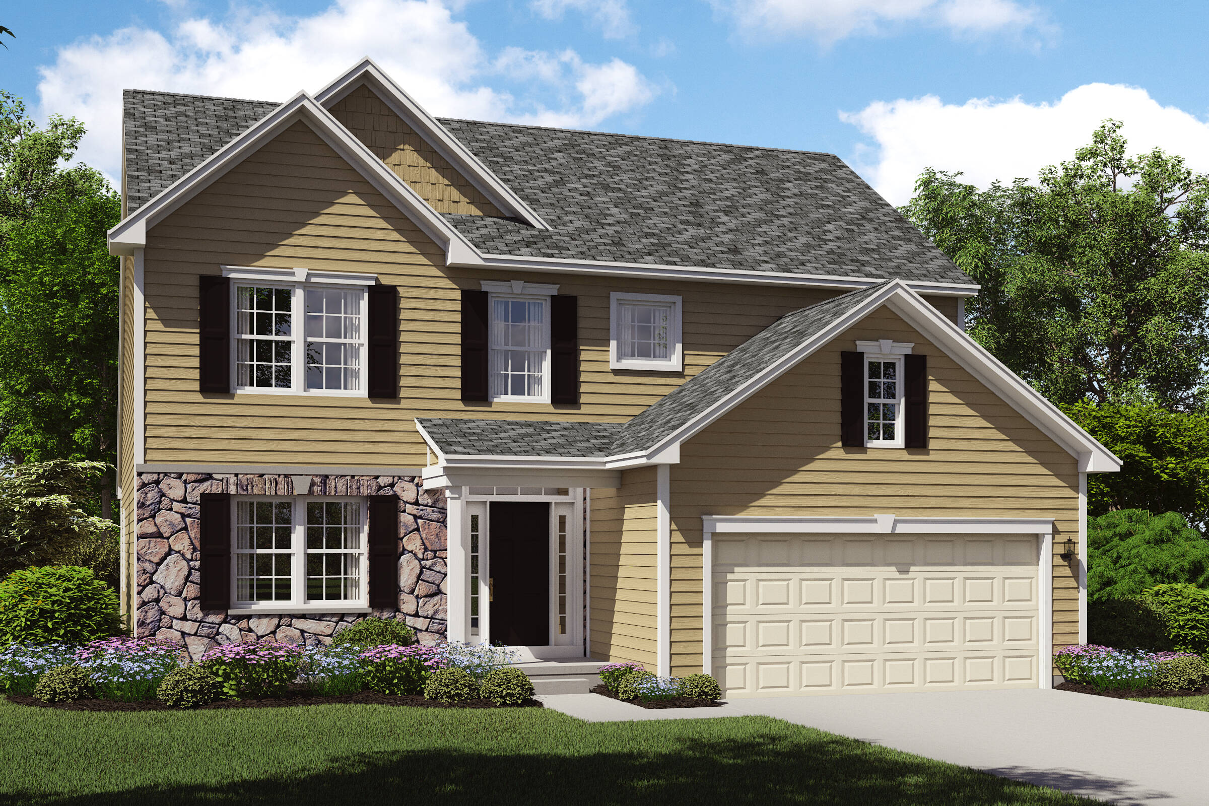 stone exterior first floor owners suite oakridge b northeast ohio