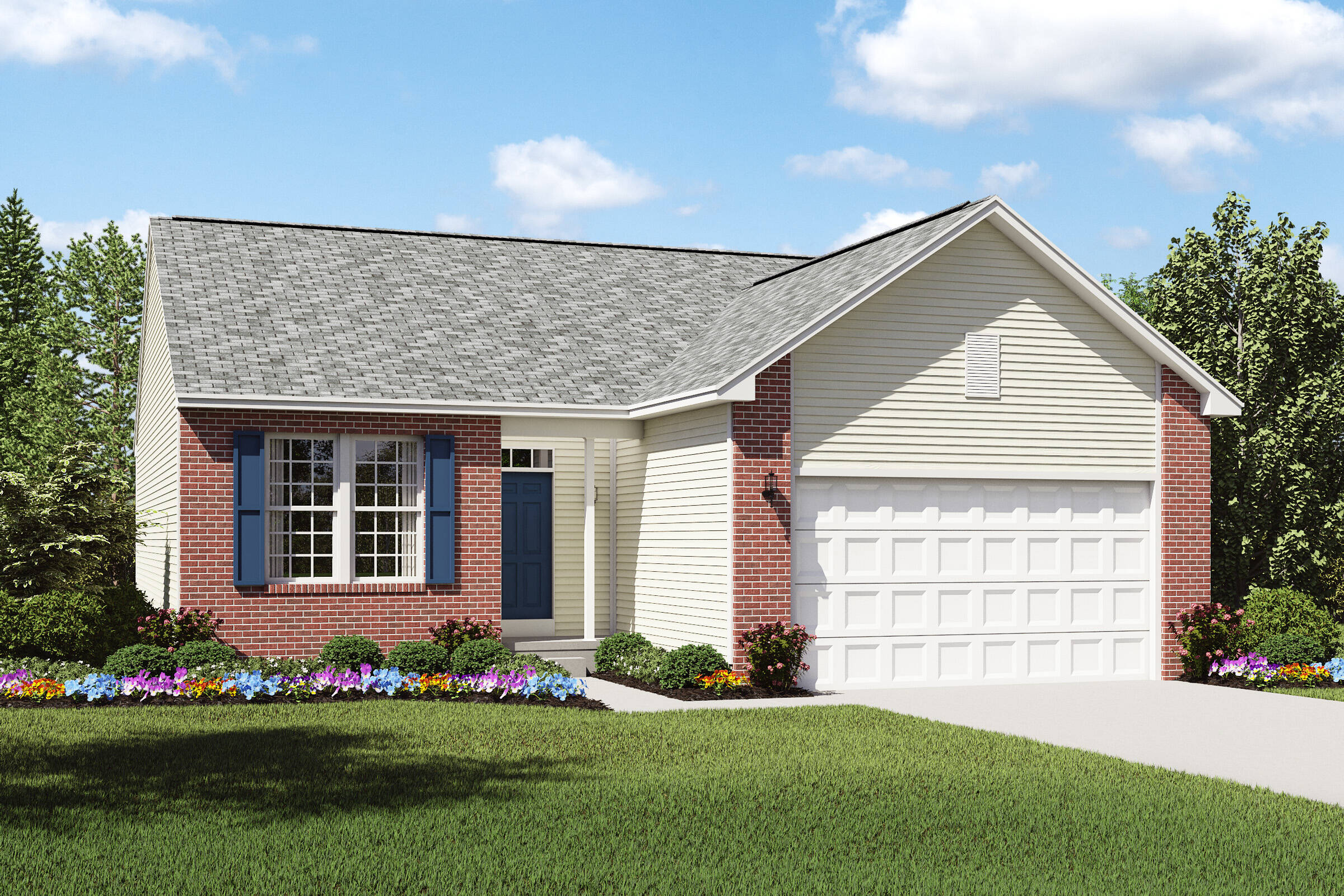pinacle a brick exterior new home design northeast ohio