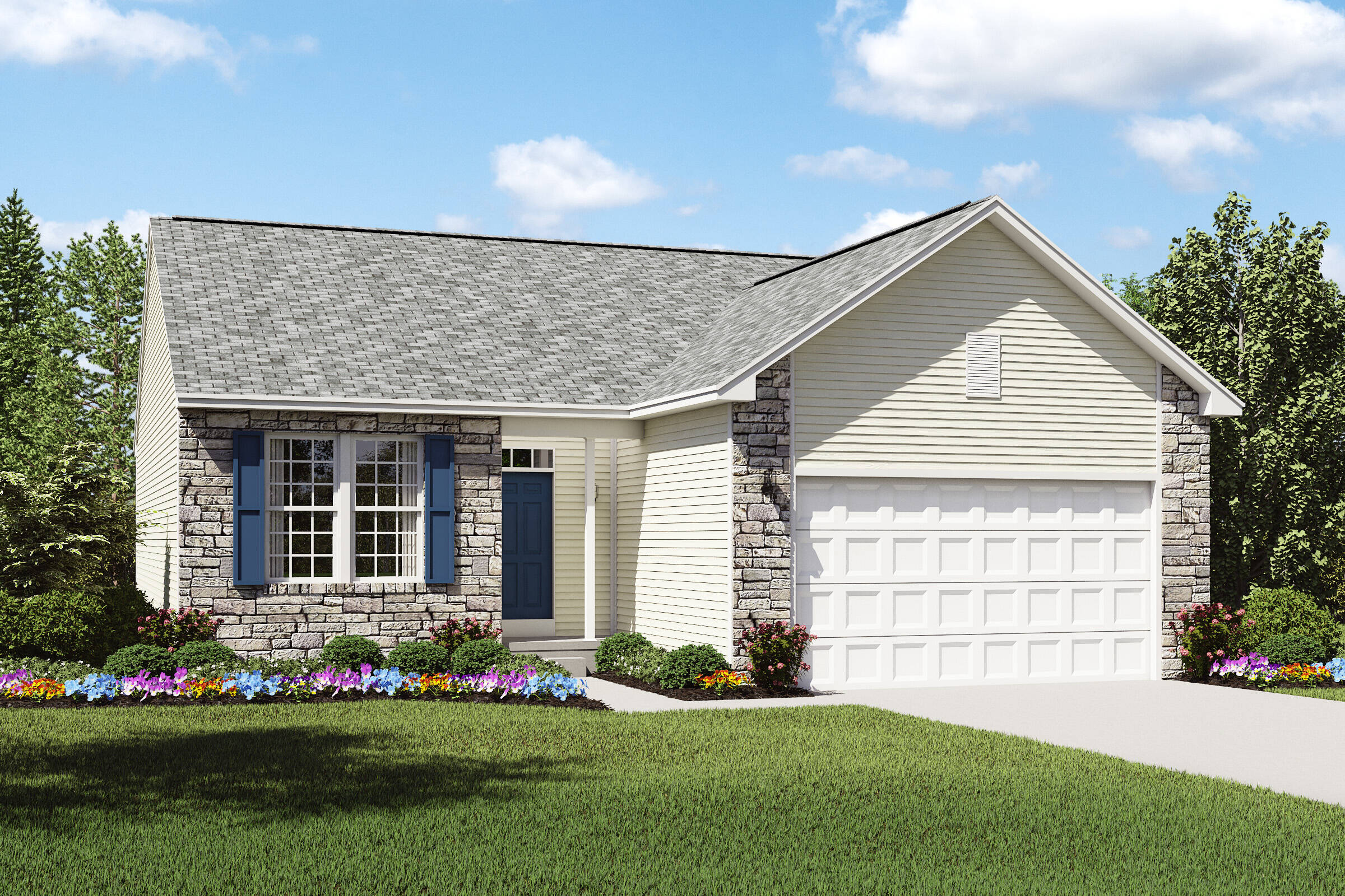 pinacle a stone exterior new ranch homes cleveland ohio