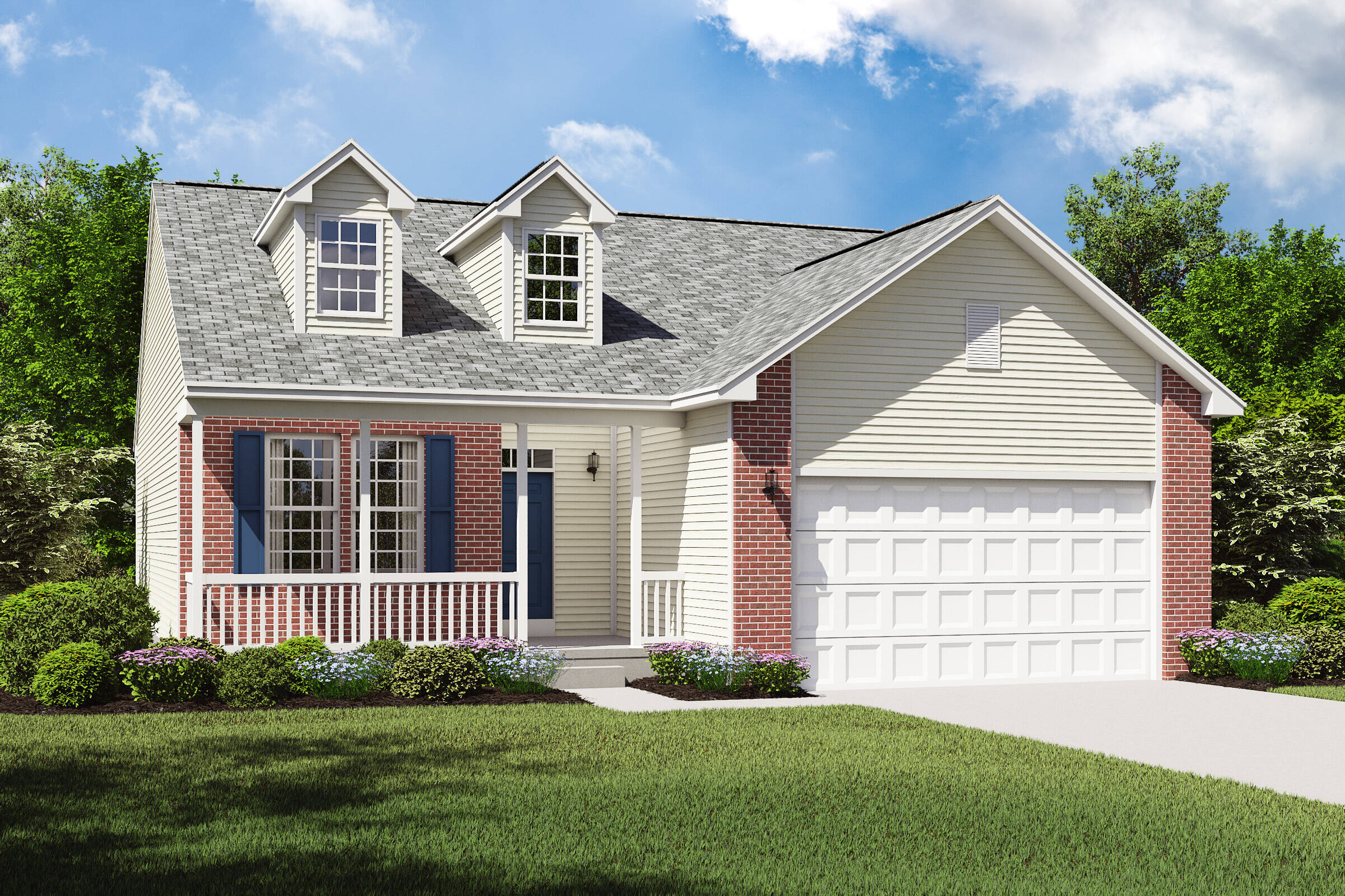 pinacle b cleveland new home ranch design with brick exterior