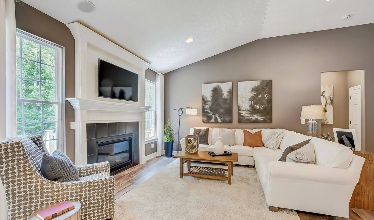 The Preserve at Meadow Lakes - Bedford Living Room-1